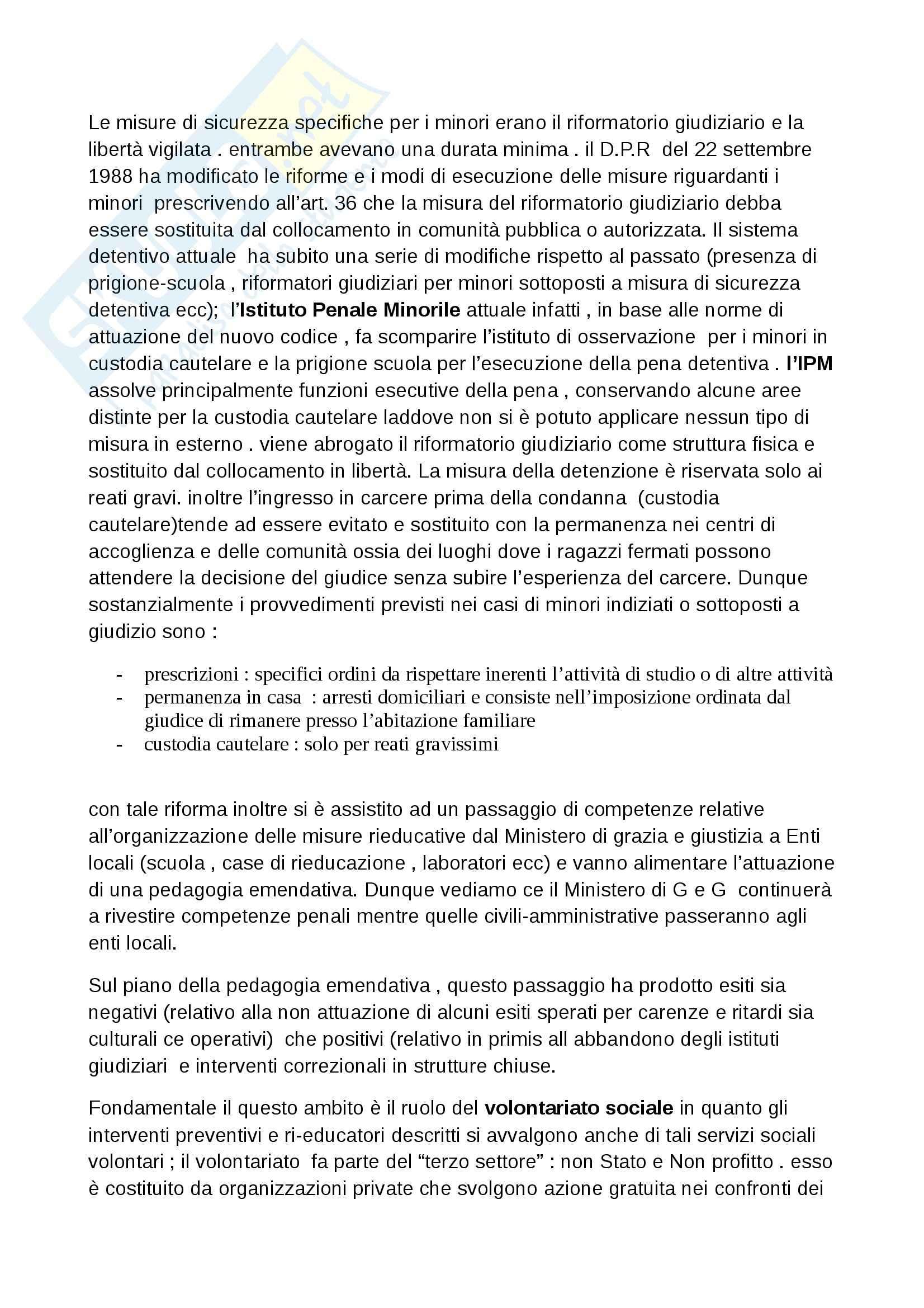 Riassunto esame Pedagogia della devianza, prof. Striano, libro consigliato Manuale di pedagogia della marginalità, Izzo, Mannucci Pag. 31