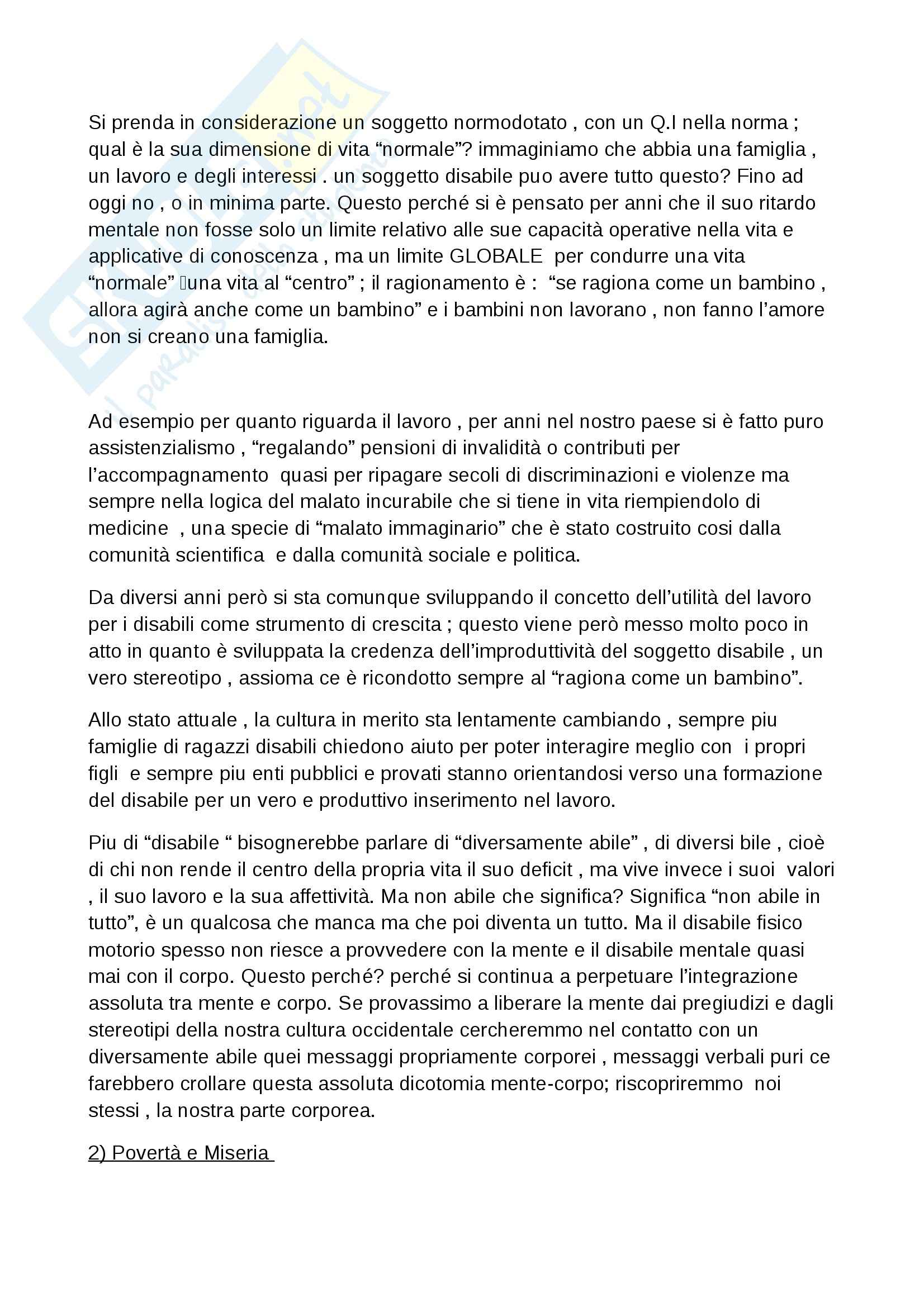 Riassunto esame Pedagogia della devianza, prof. Striano, libro consigliato Manuale di pedagogia della marginalità, Izzo, Mannucci Pag. 6