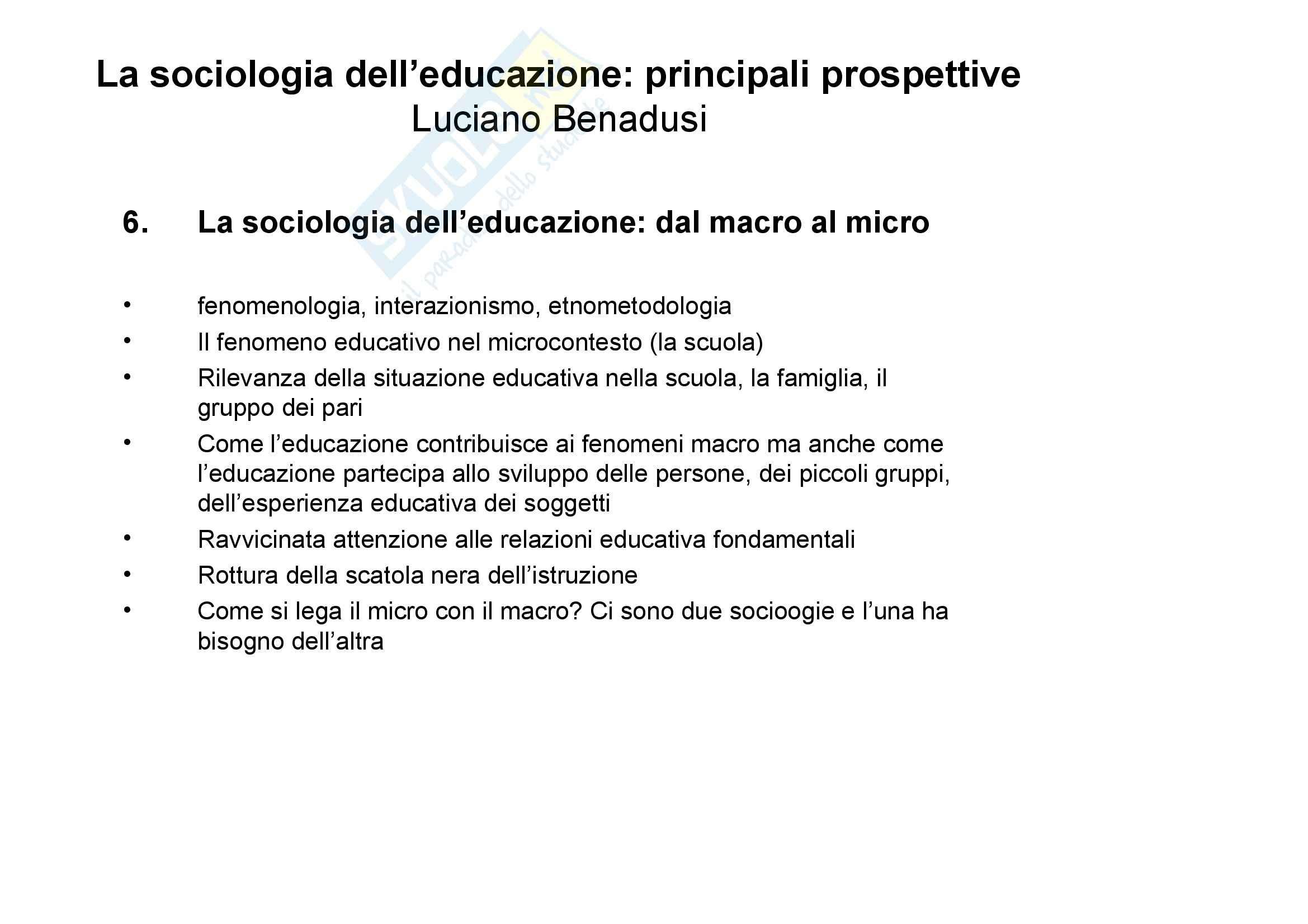 Sociologia dell'educazione - Appunti Pag. 6