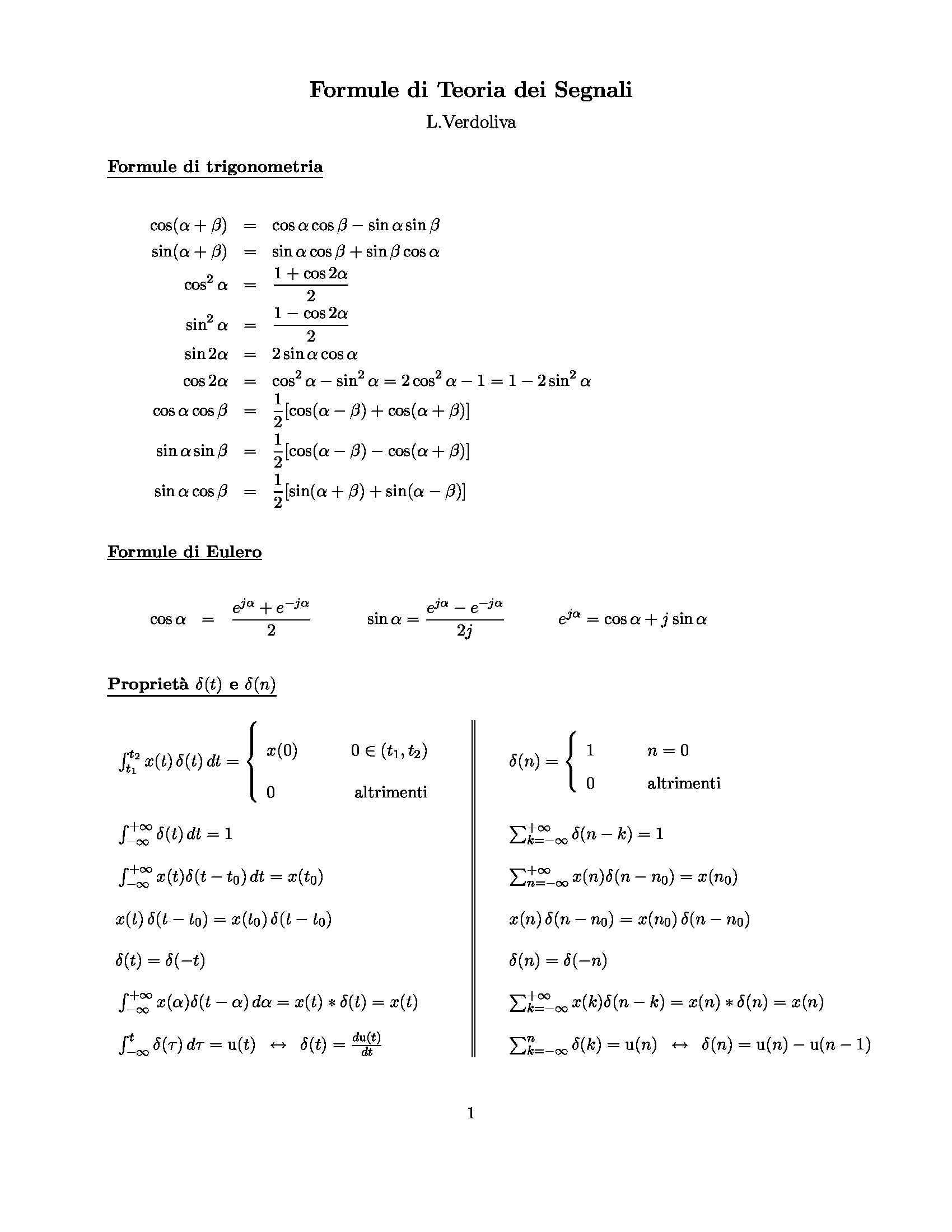 Ingegneria biomedica - Formulario