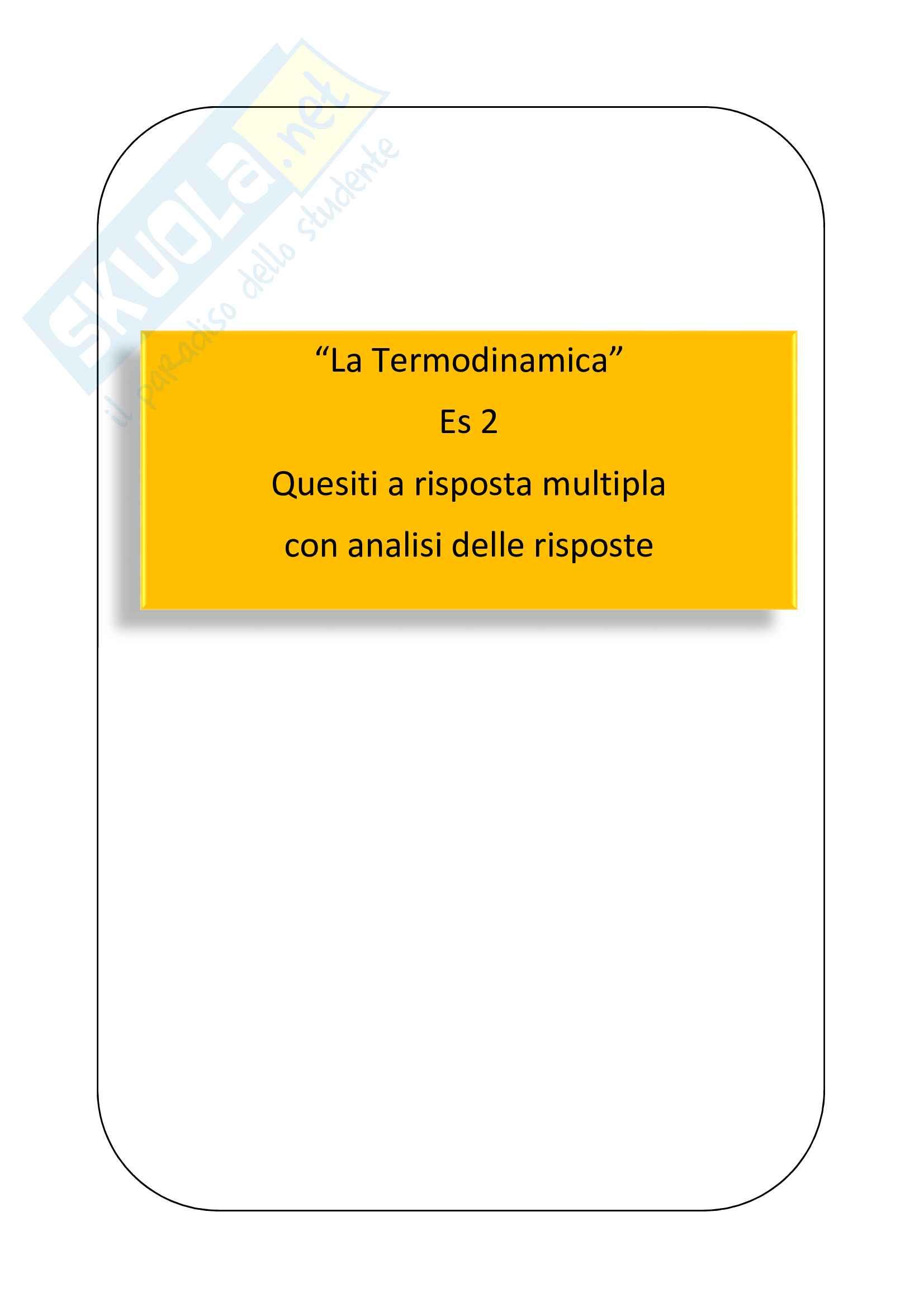 Termodinamica domande di fisica con risposte ragionate - Es 2