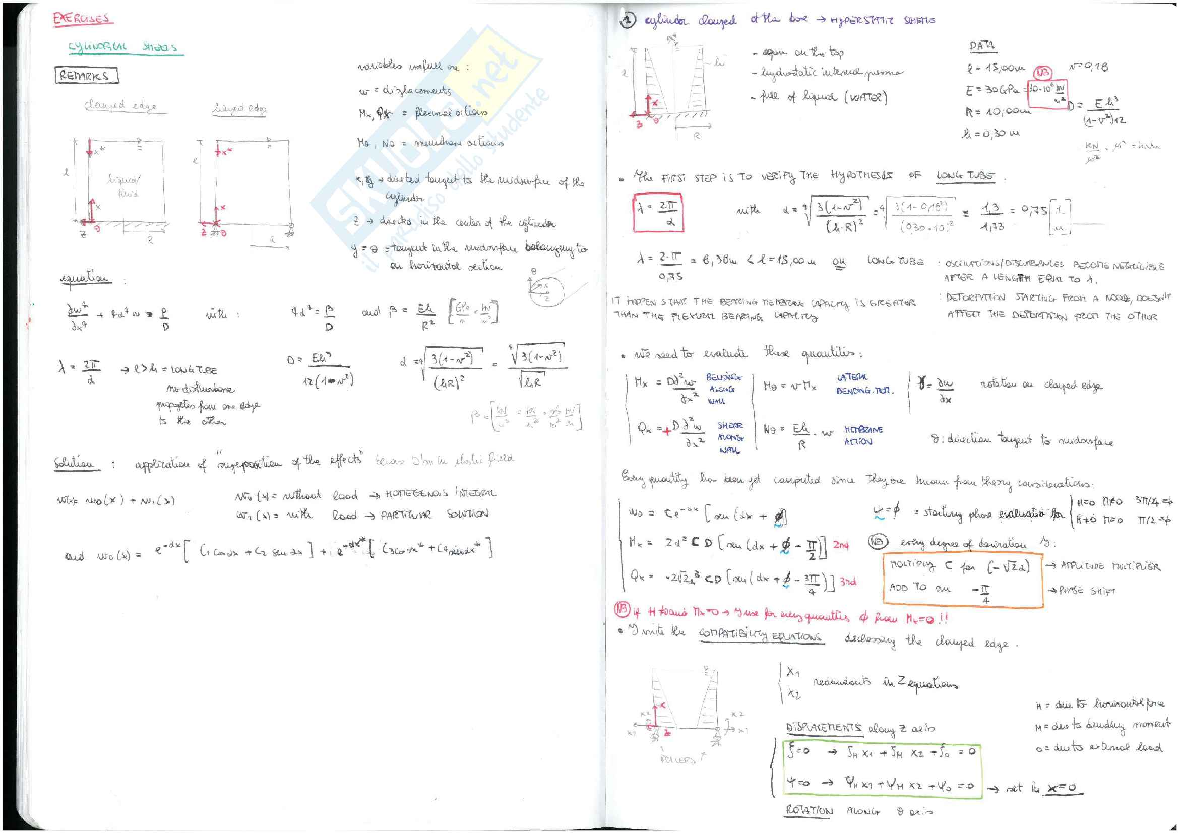 Esercizi - Advanced Structural Design Pag. 1