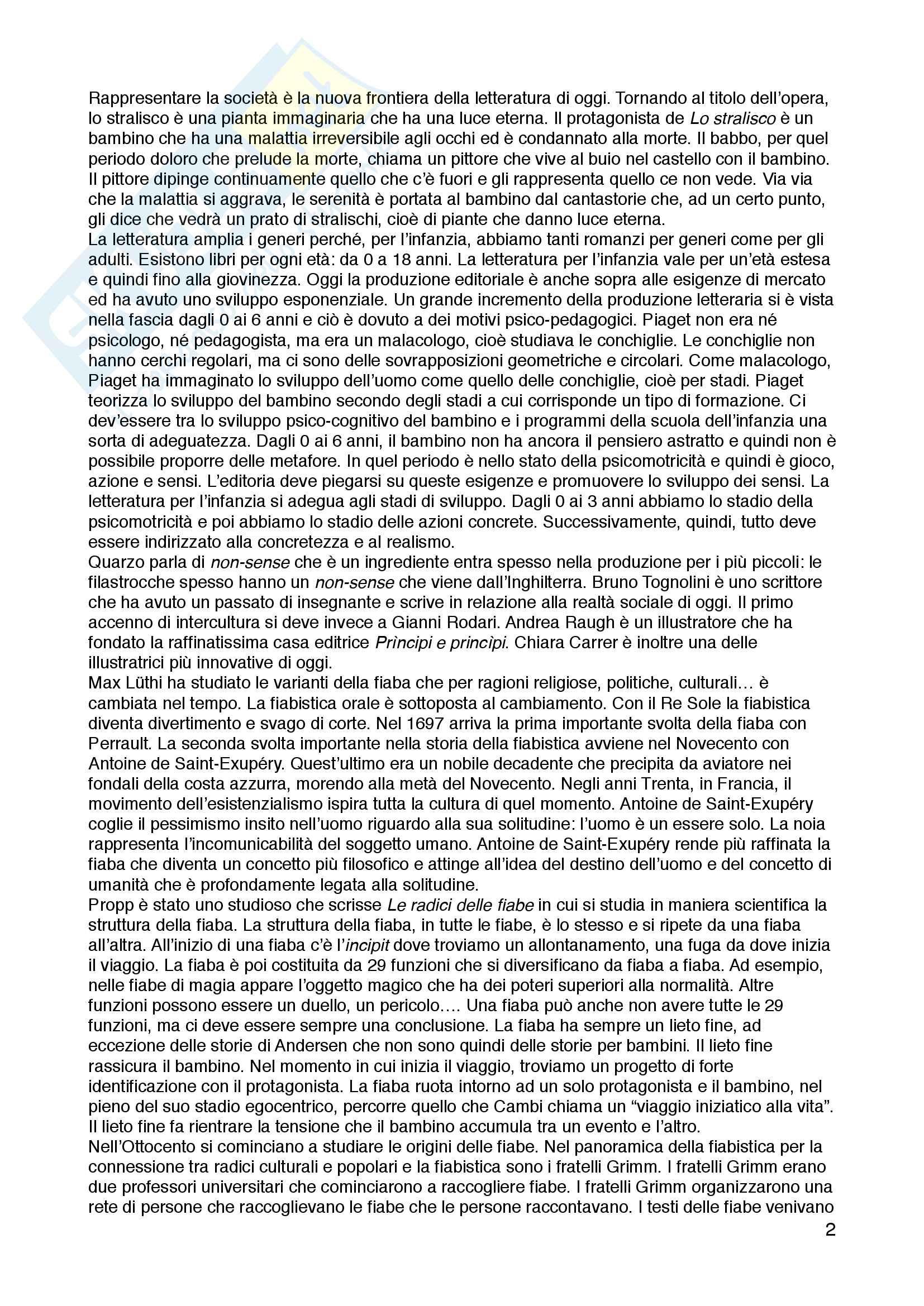 Appunti di letteratura per l'infanzia, Flavia Bacchetti Pag. 2