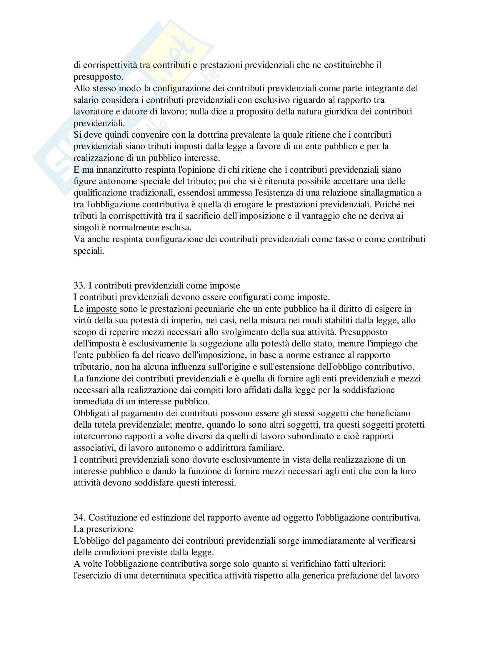 Riassunto esame Diritto del lavoro, prof. Loele, libro consigliato Diritto della previdenza sociale, Persiani Pag. 21