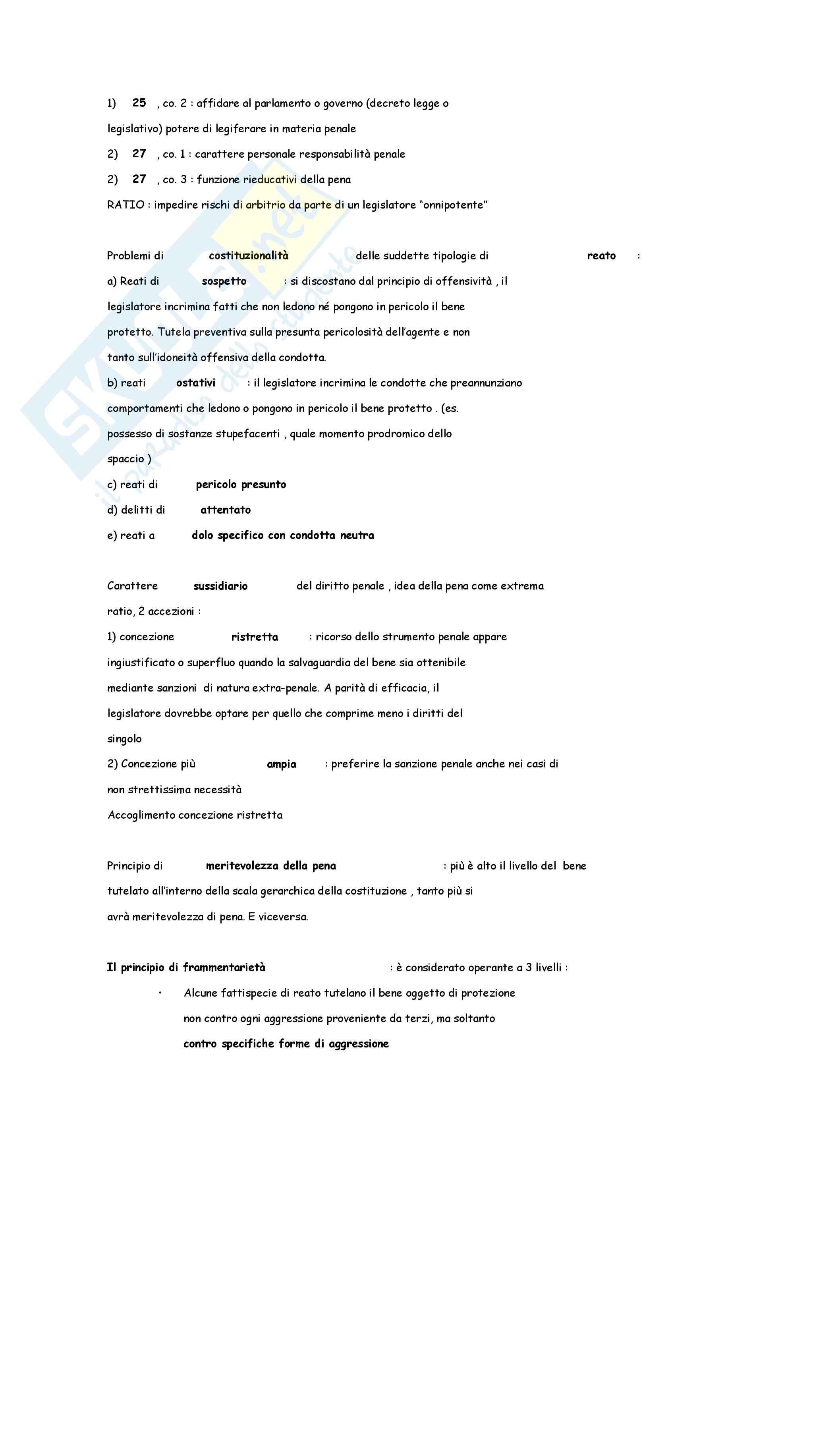 Diritto penale - nozioni generali Pag. 2