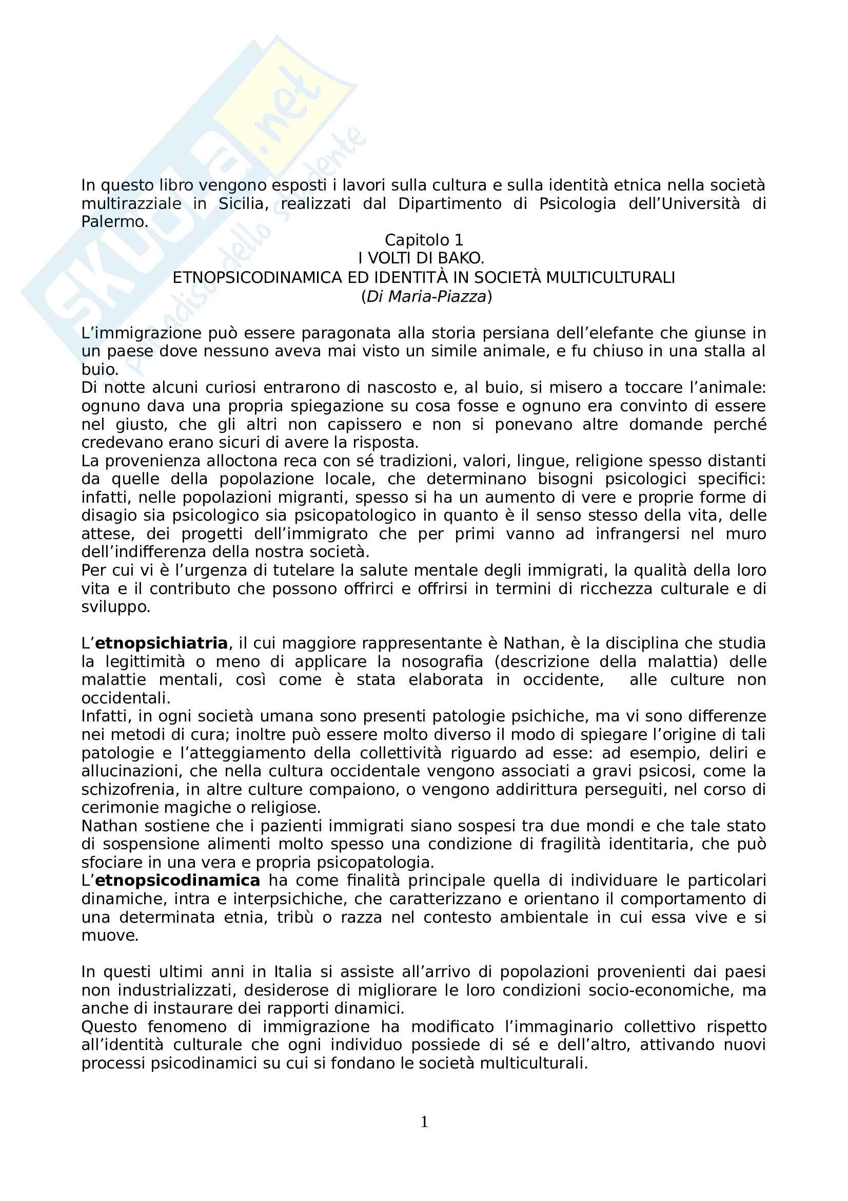 Riassunto esame Psicologia dell'Educazione, prof. Gulì, libro consigliato Psicologia della Solidarietà, Di Maria, Lo Coco Pag. 1