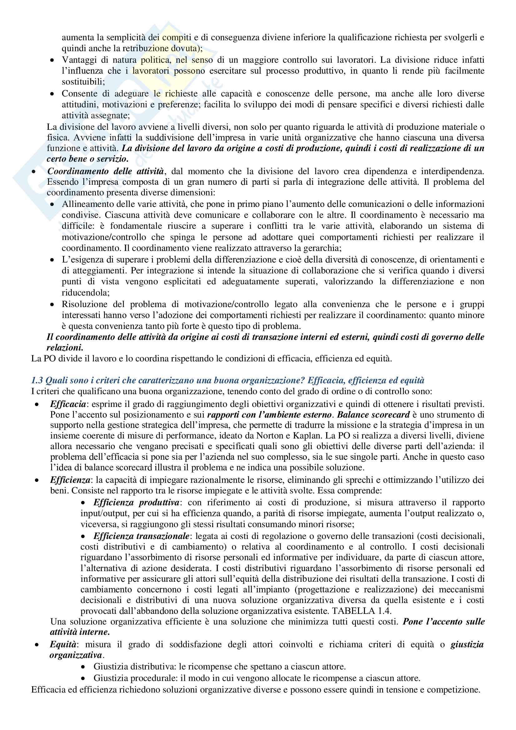Riassunto Organizzazione delle Aziende Pag. 2