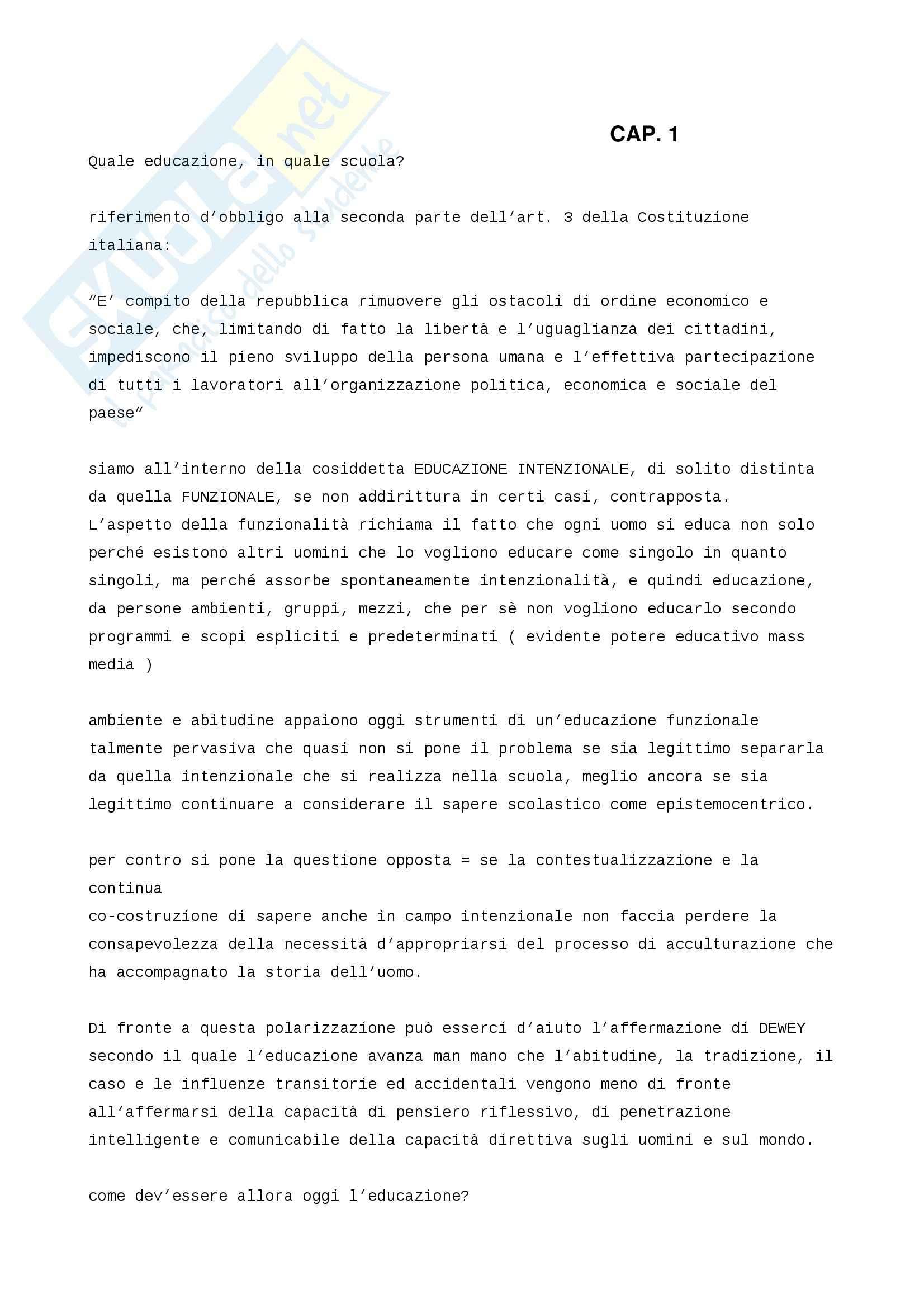 Riassunto esame Didattica, prof. Sandrone, libro consigliato Personalizzare l'educazione, Sandrone Buscarino