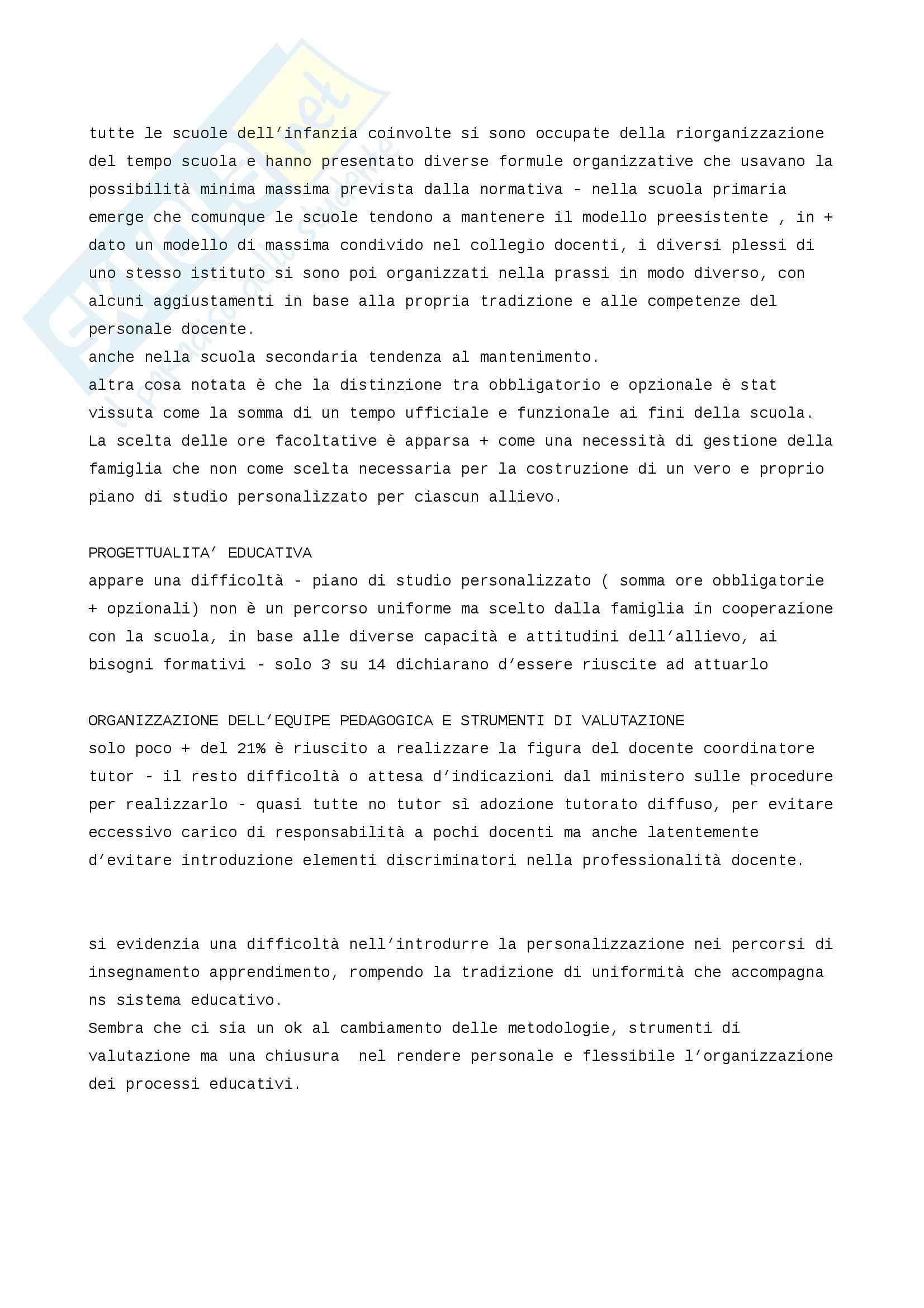Riassunto esame Didattica, prof. Sandrone, libro consigliato Personalizzare l'educazione, Sandrone Buscarino Pag. 21