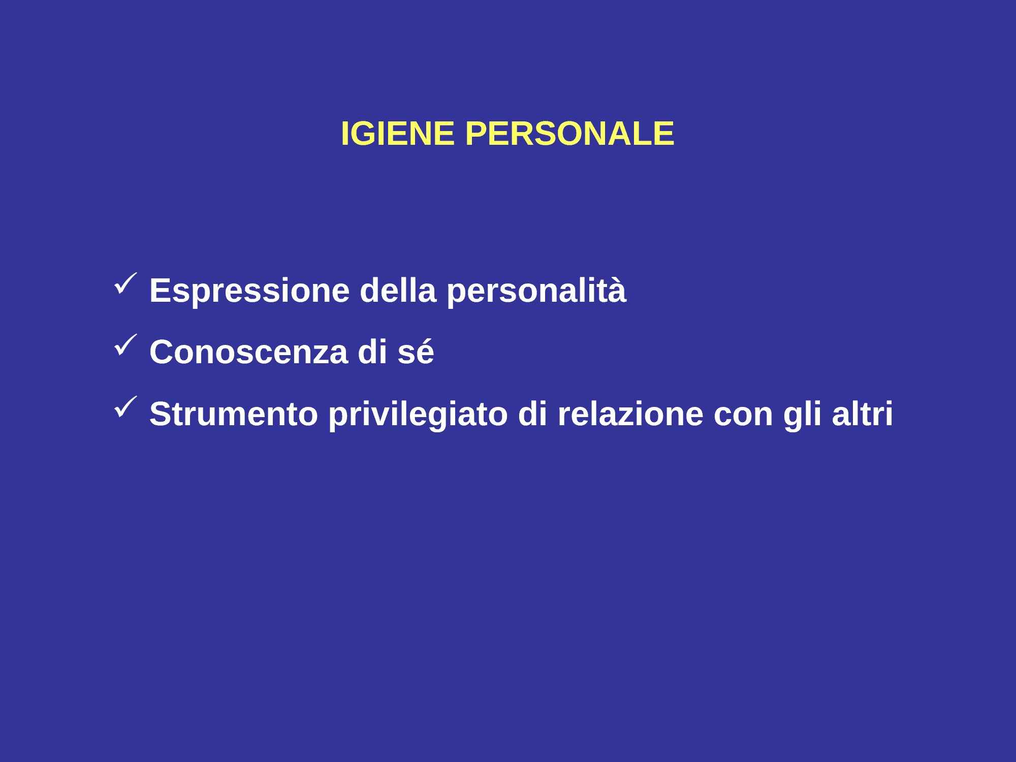 Igiene personale Pag. 1