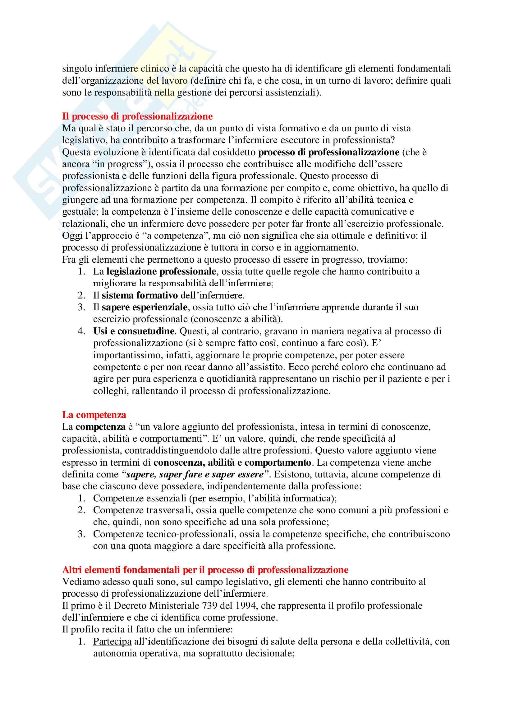 Metodologia Infermieristica - Appunti Completi Pag. 2