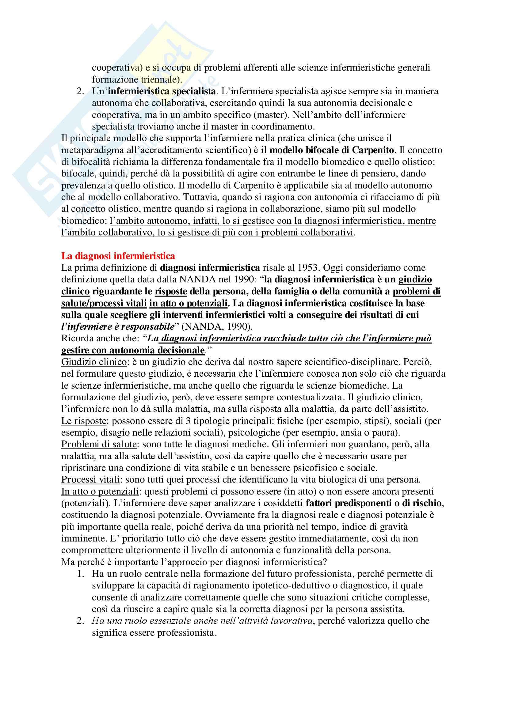 Metodologia Infermieristica - Appunti Completi Pag. 6