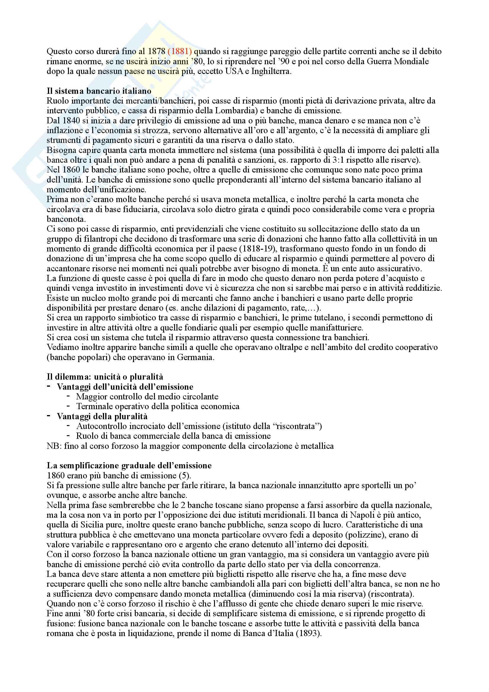 Storia Economica (Storia della banca) Pag. 31