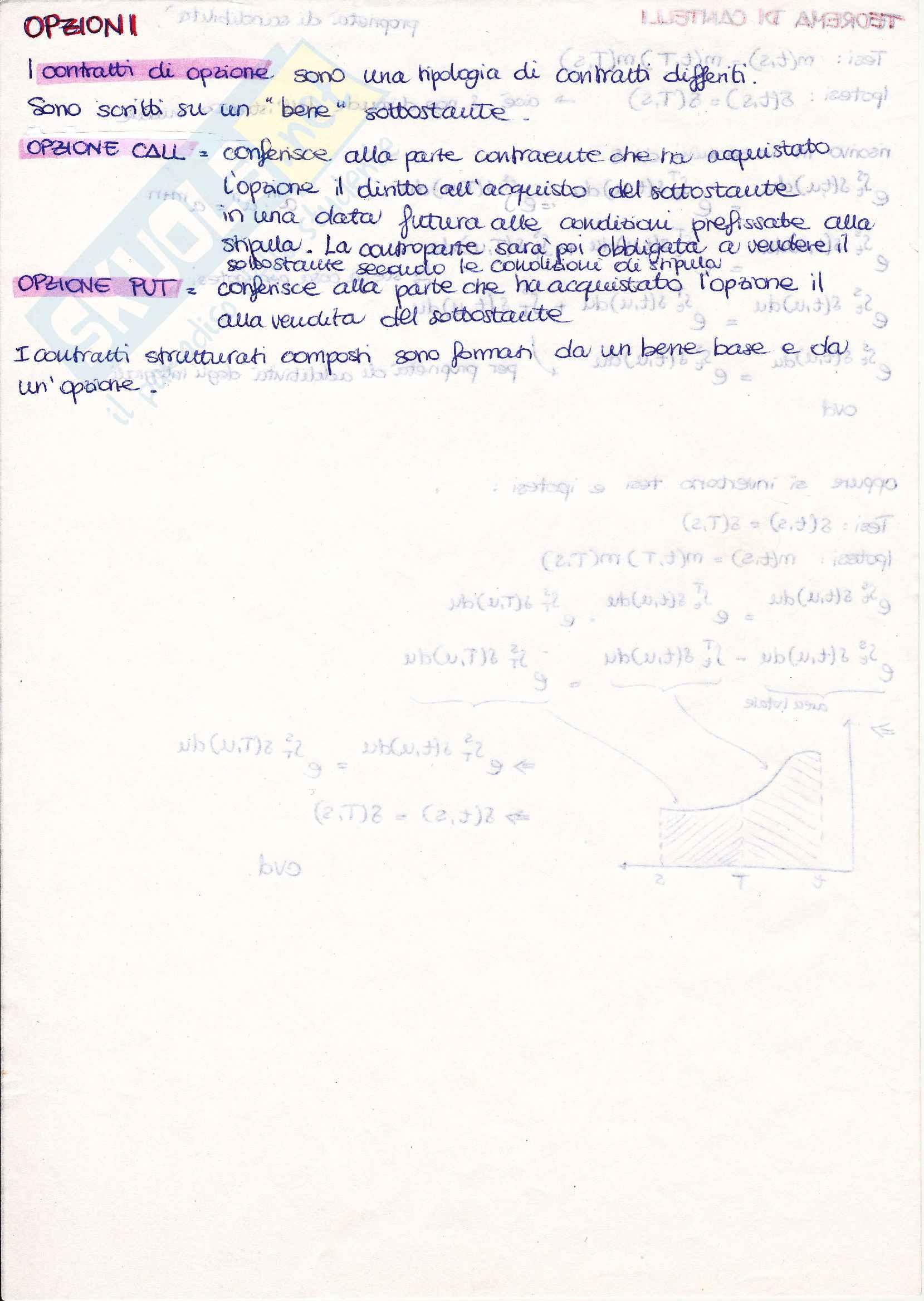 Matematica finanziaria appunti, prof. Mottura Pag. 16