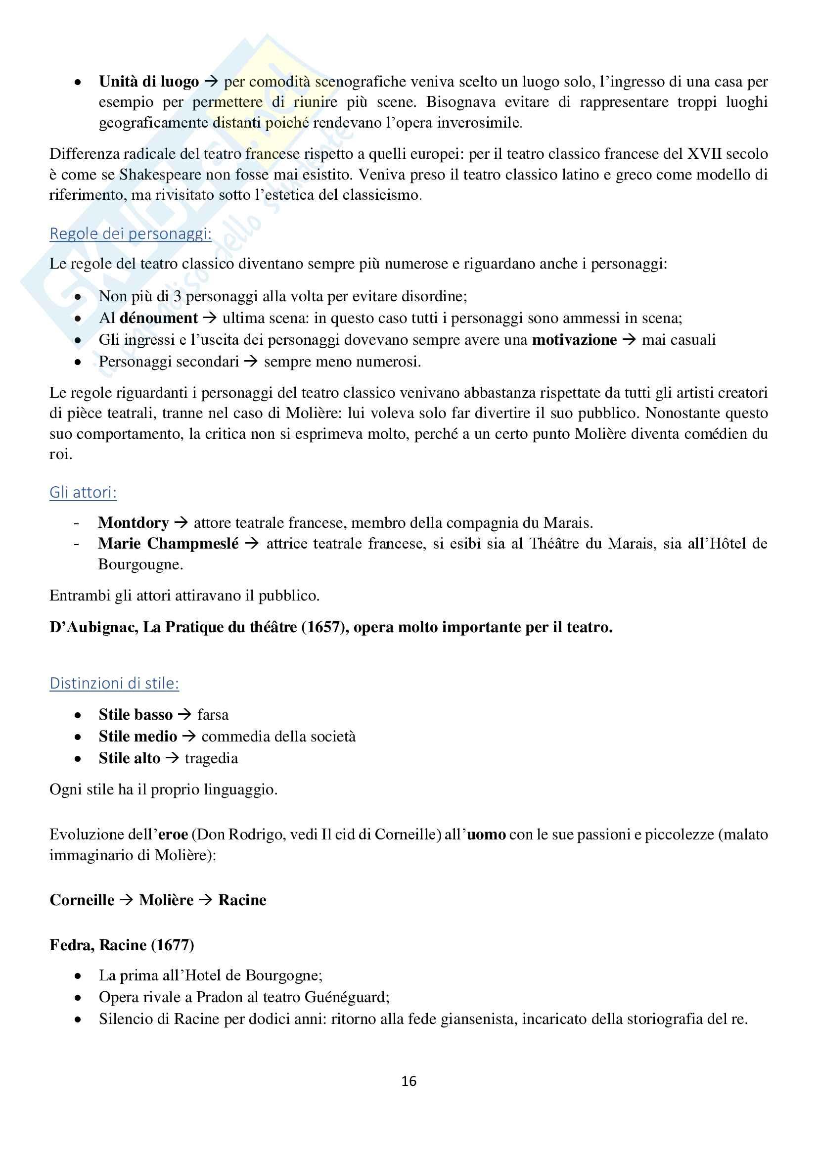 Storia della cultura francese dal Seicento all'Ottocento, esame di storia della cultura francese, prof. Brignoli, appunti Pag. 16