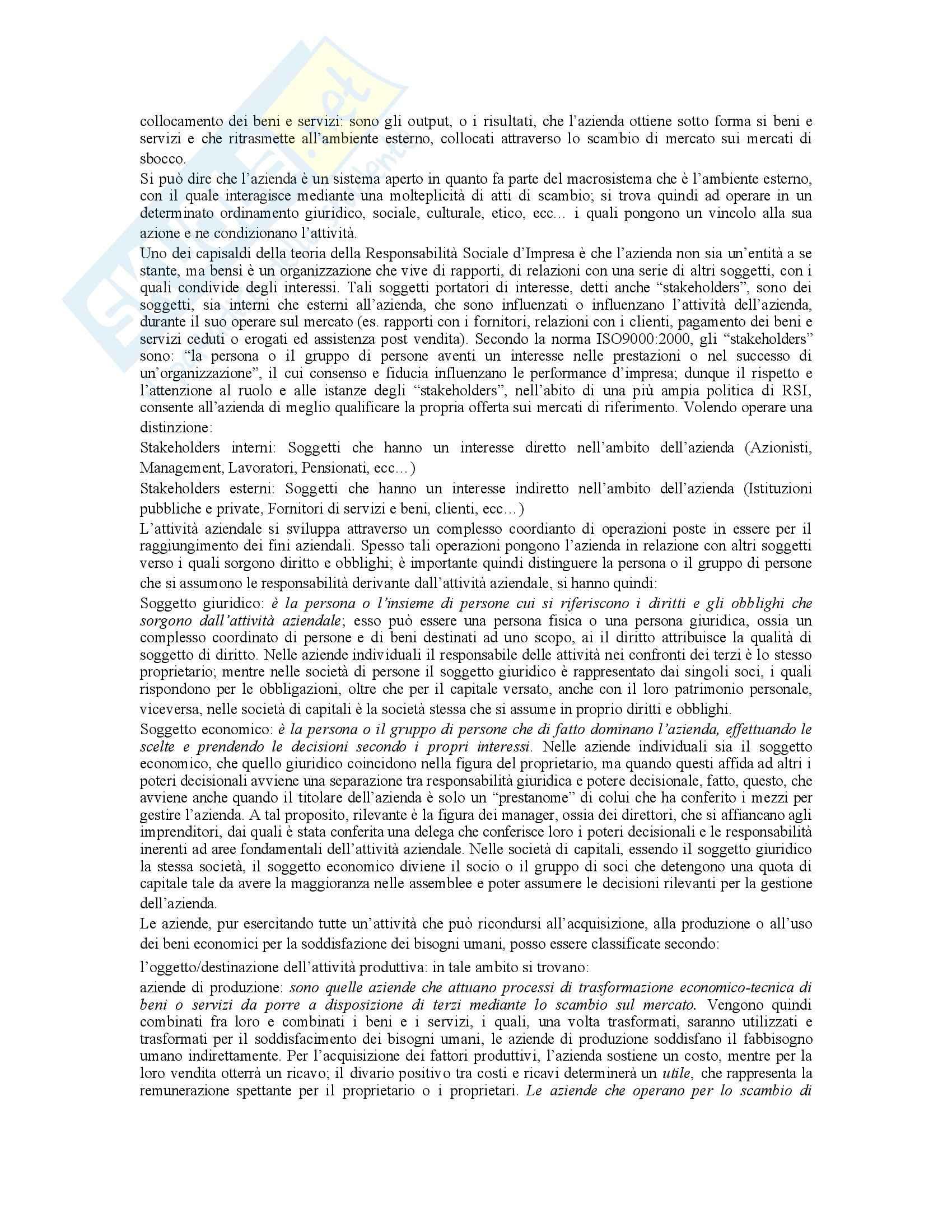 Economia aziendale - Dispensa Pag. 2