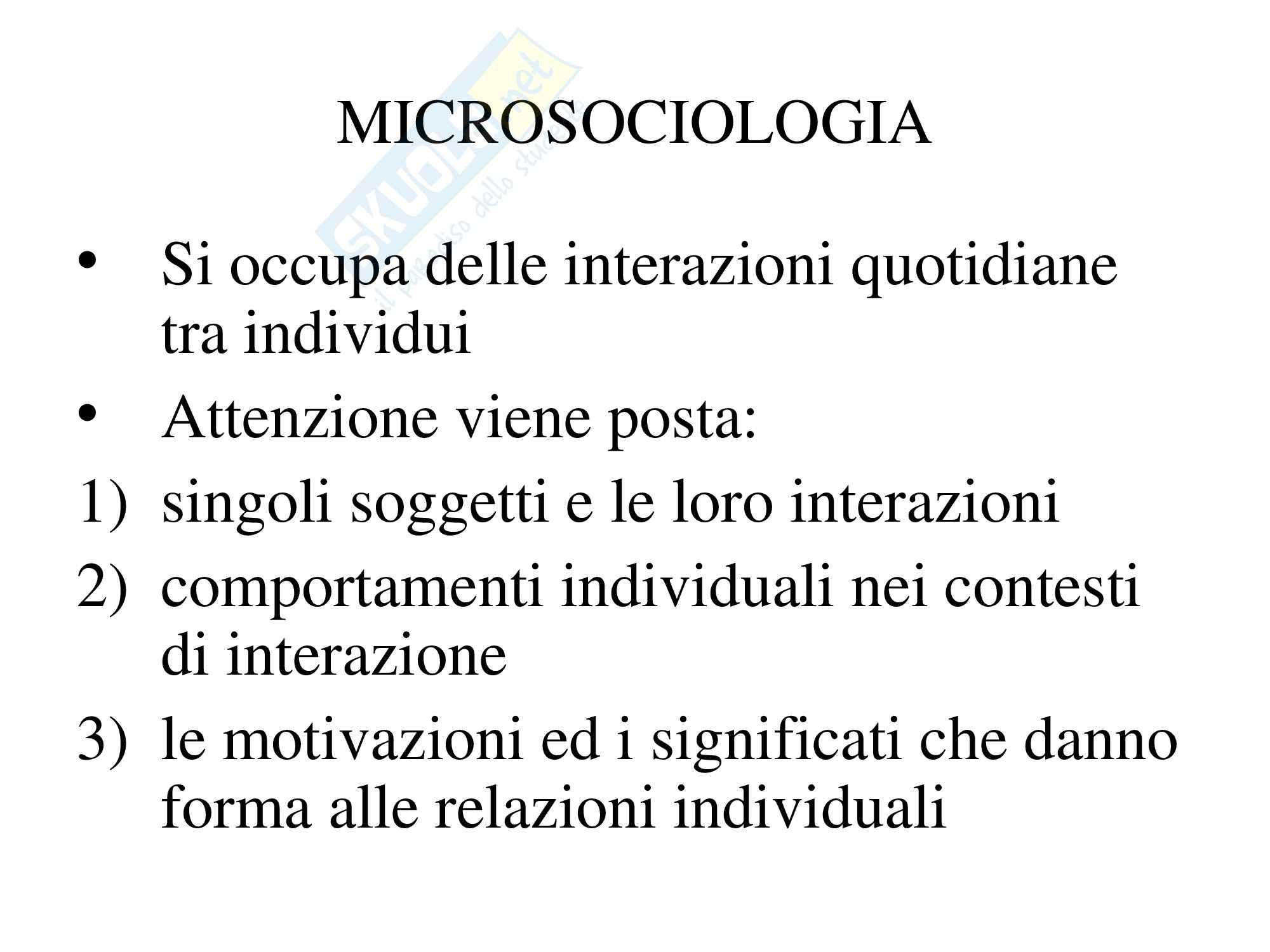 Microsociologia