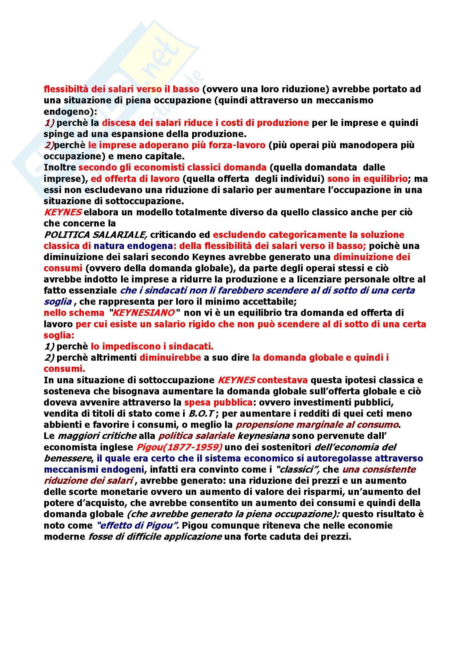 Riassunto esame Economia Politica, prof. Martucci, libro consigliato Elementi di Economia Politica, Palmerio Pag. 16