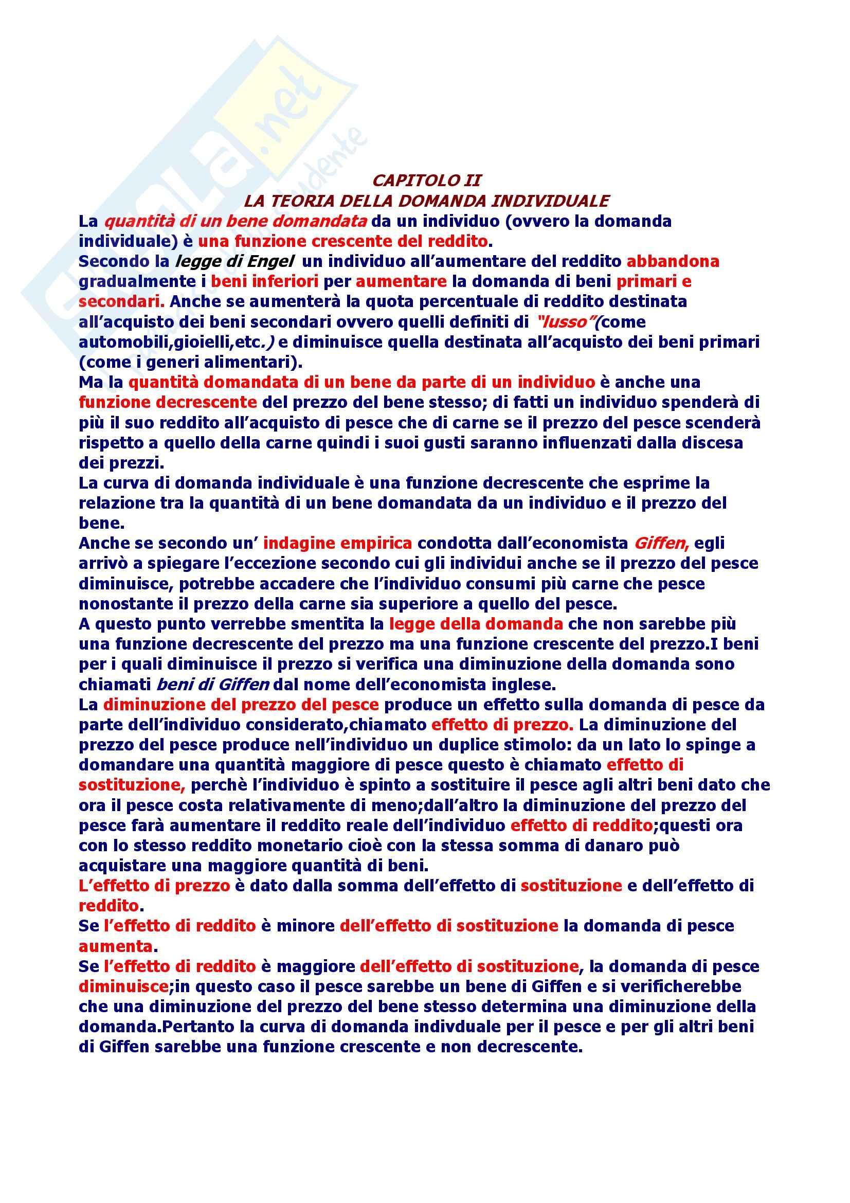 Riassunto esame Economia Politica, prof. Martucci, libro consigliato Elementi di Economia Politica, Palmerio Pag. 2