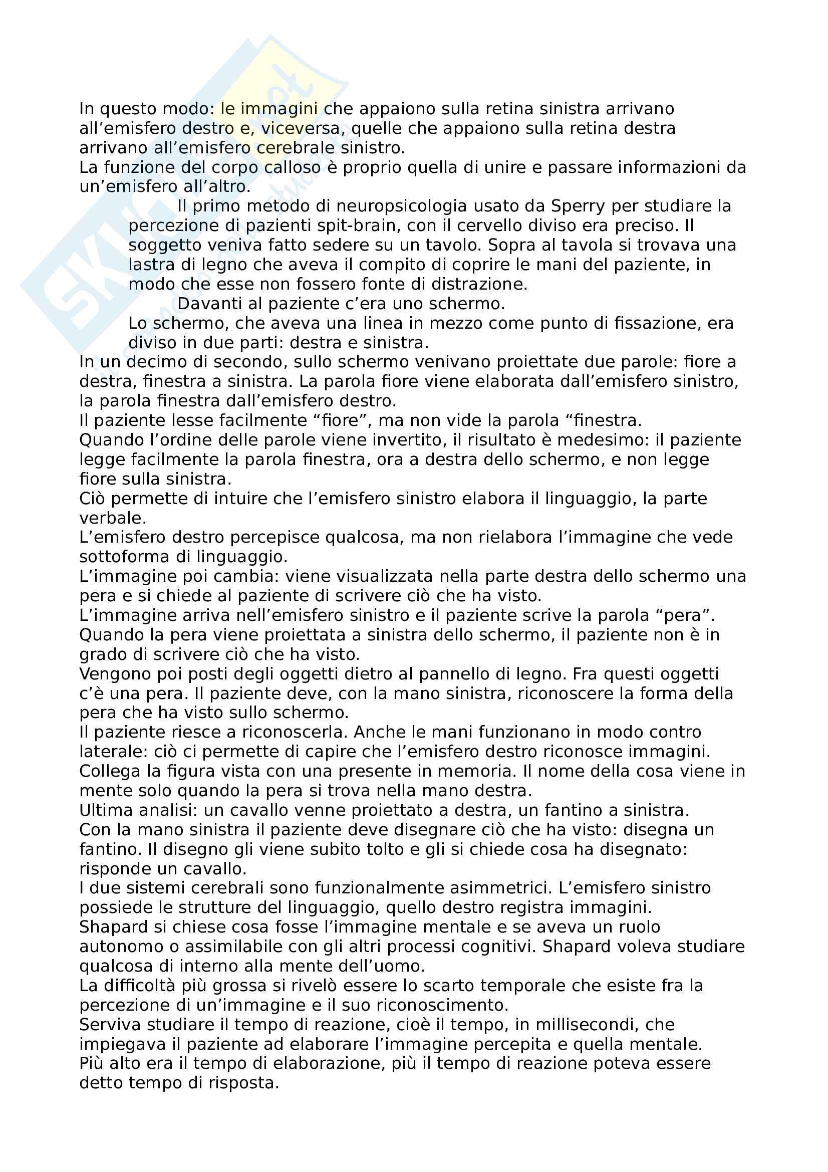 Psicologia Generale - Appunti e domande Pag. 21