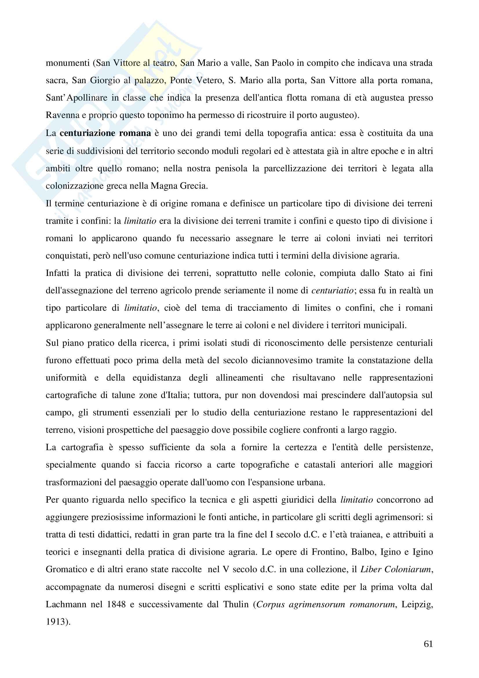 Topografia antica, triennale Pag. 61