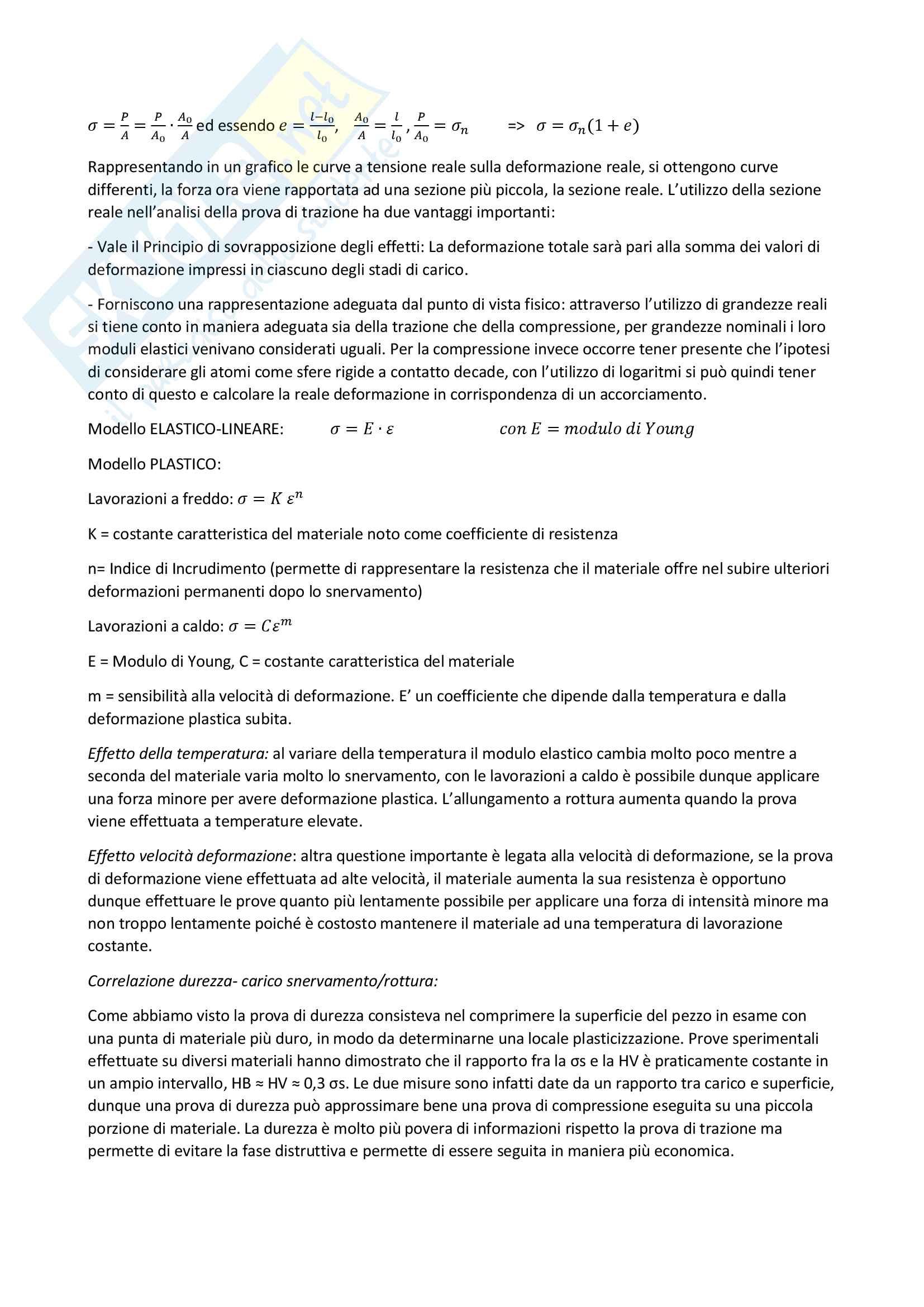 Sintesi tecnologia dei processi produttivi Pag. 11