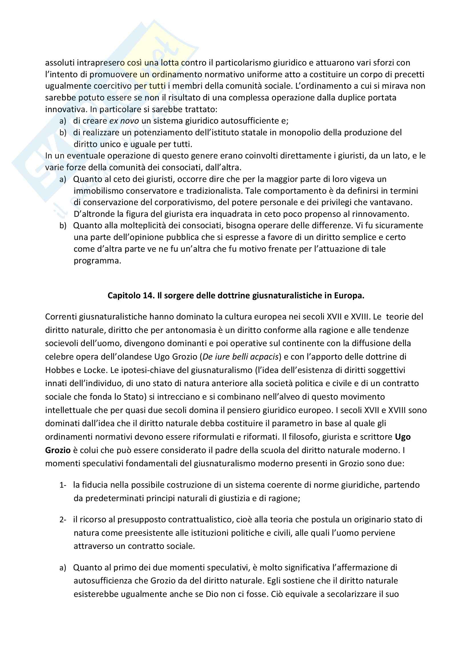 Riassunto esame Storia del diritto, libro adottato  Storia del diritto moderno in Europa: le fonti e il pensiero giuridico I, Cavanna Pag. 11