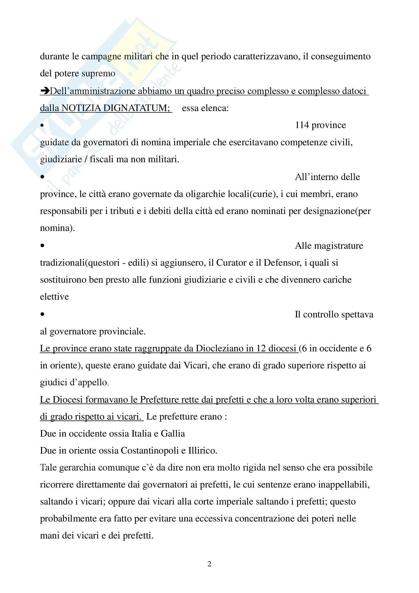 Storia del diritto italiano - età tardo antica - Appunti Pag. 2