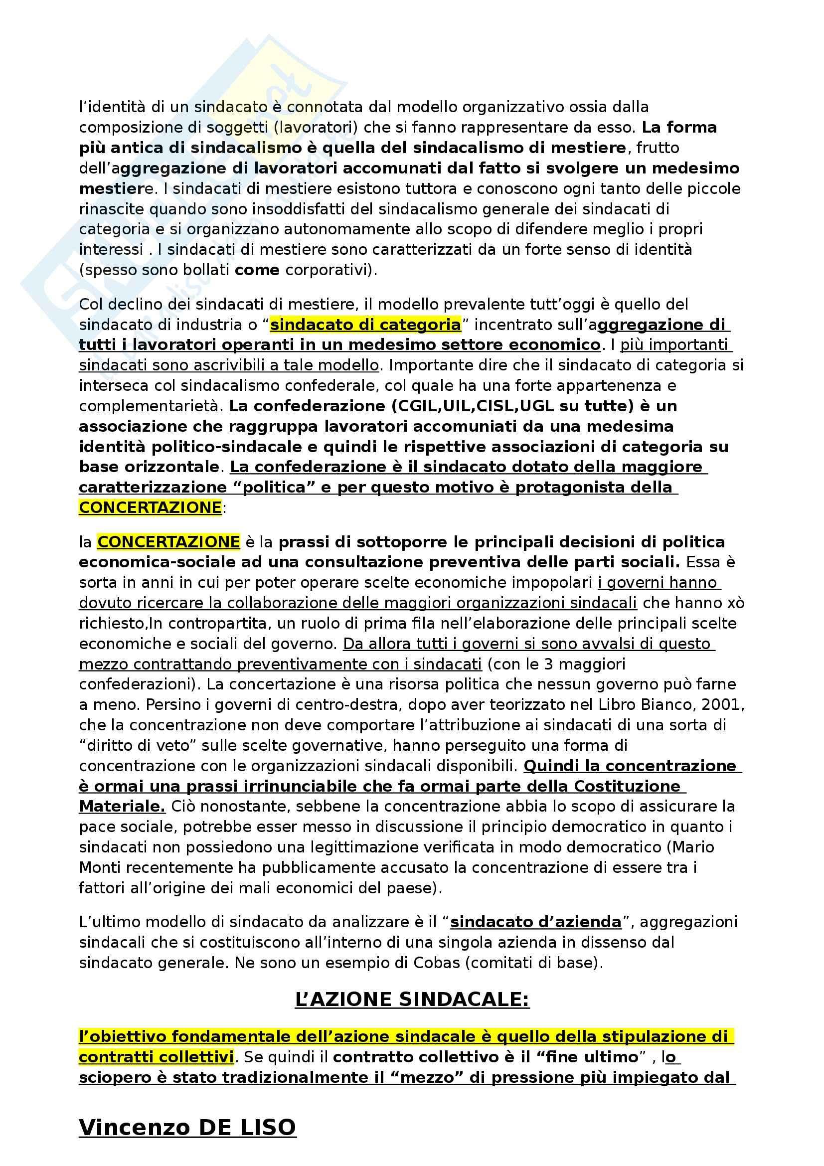 Riassunto esame Diritto del Lavoro, prof. Zoppoli, libro consigliato Diritto del Lavoro di Del Punta Pag. 6