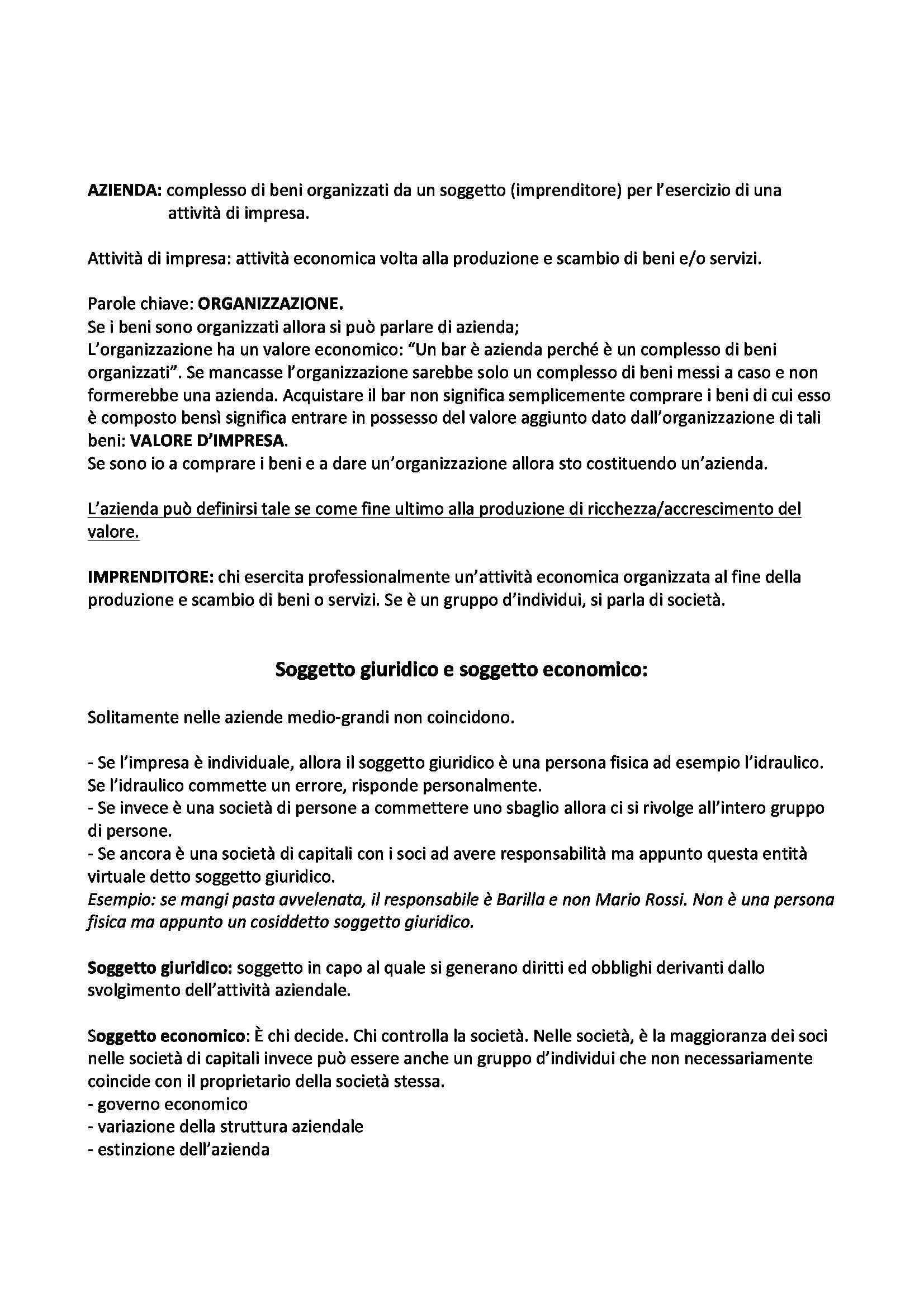 Economia e organizzazione aziendale - esercitazione Pag. 2