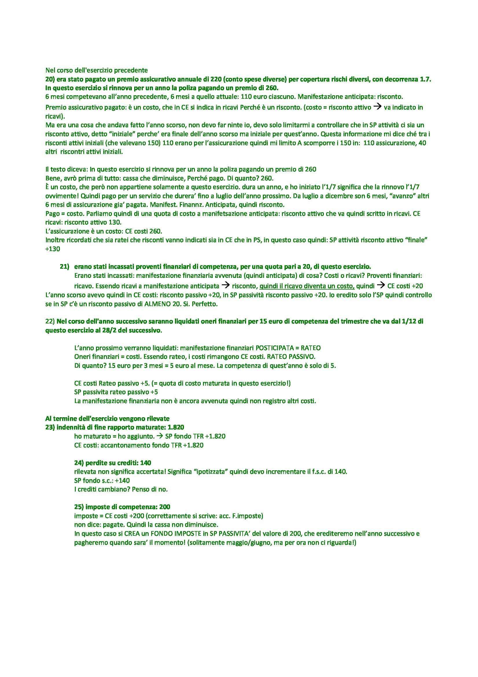 Economia e organizzazione aziendale - esercitazione Pag. 31