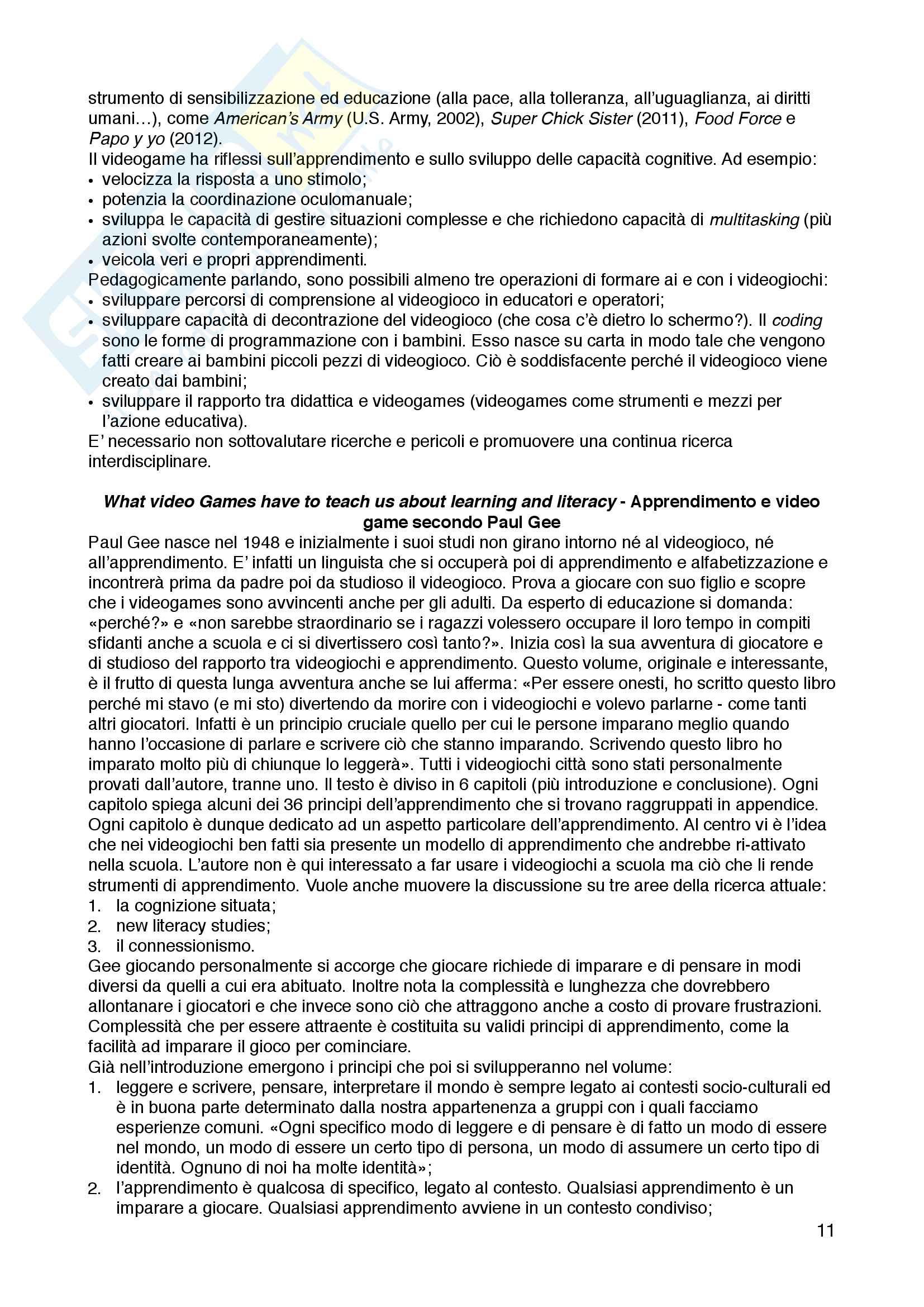 Appunti di metodologia e tecnica del gioco e dell'animazione, Metodologia e tecnica del gioco e dell'animazione, Romina Nesti Pag. 11