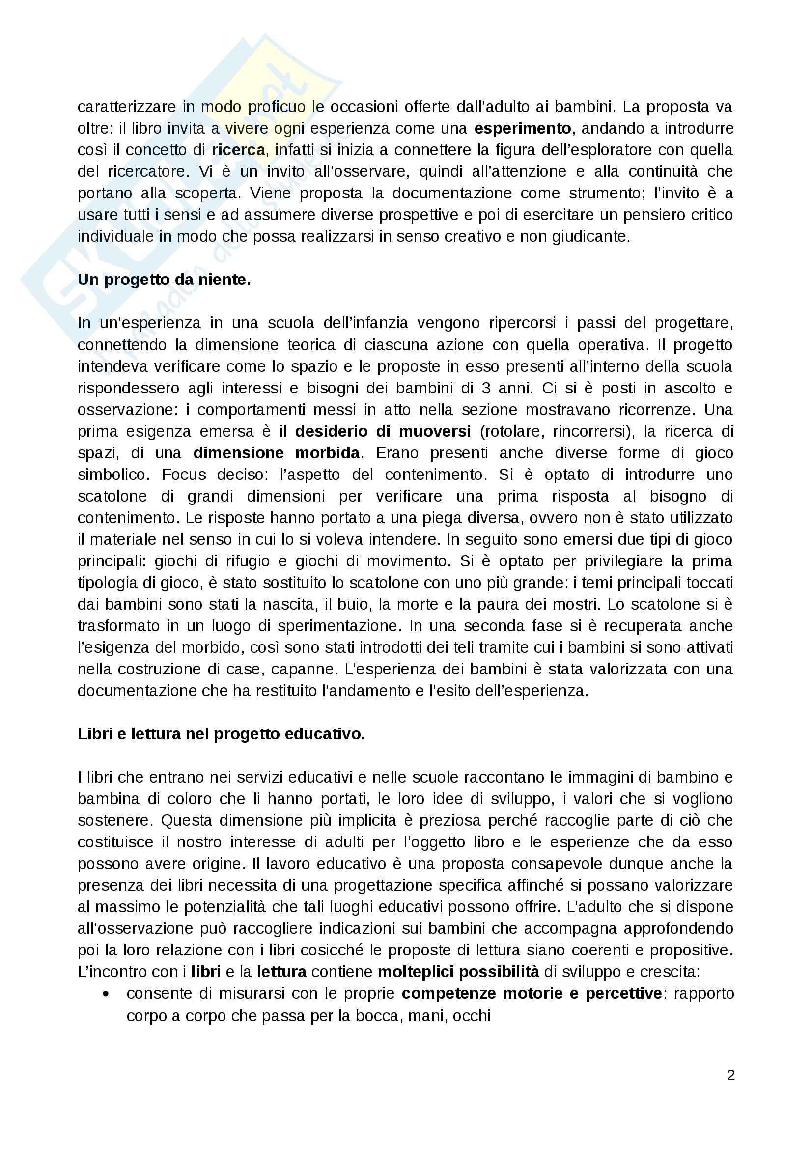 Riassunto esame Mediazione didattica, prof. Guerra, libro consigliato Progettare esperienze e relazioni Pag. 2