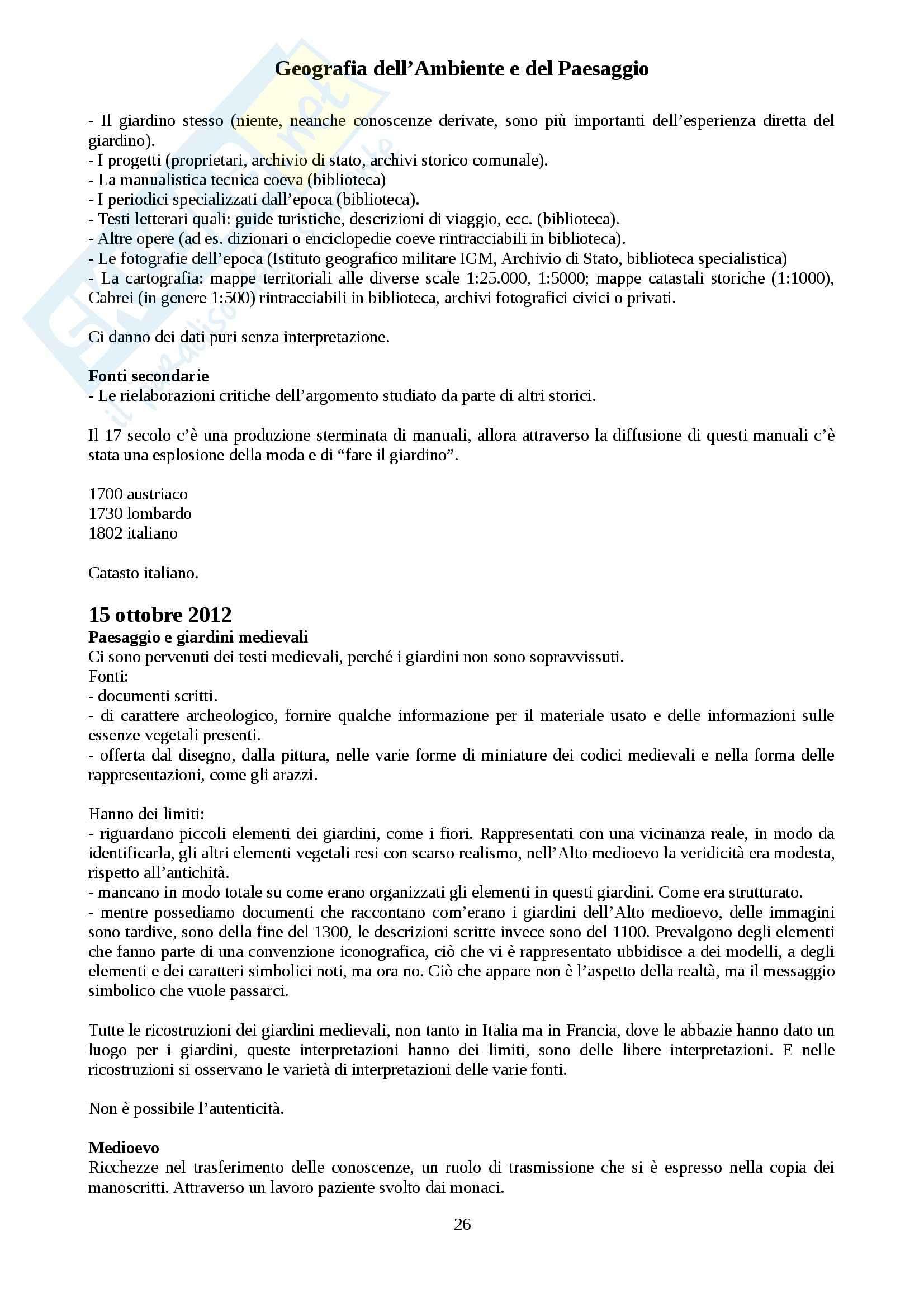 Geografia dell'Ambiente e del Paesaggio - Appunti Pag. 26