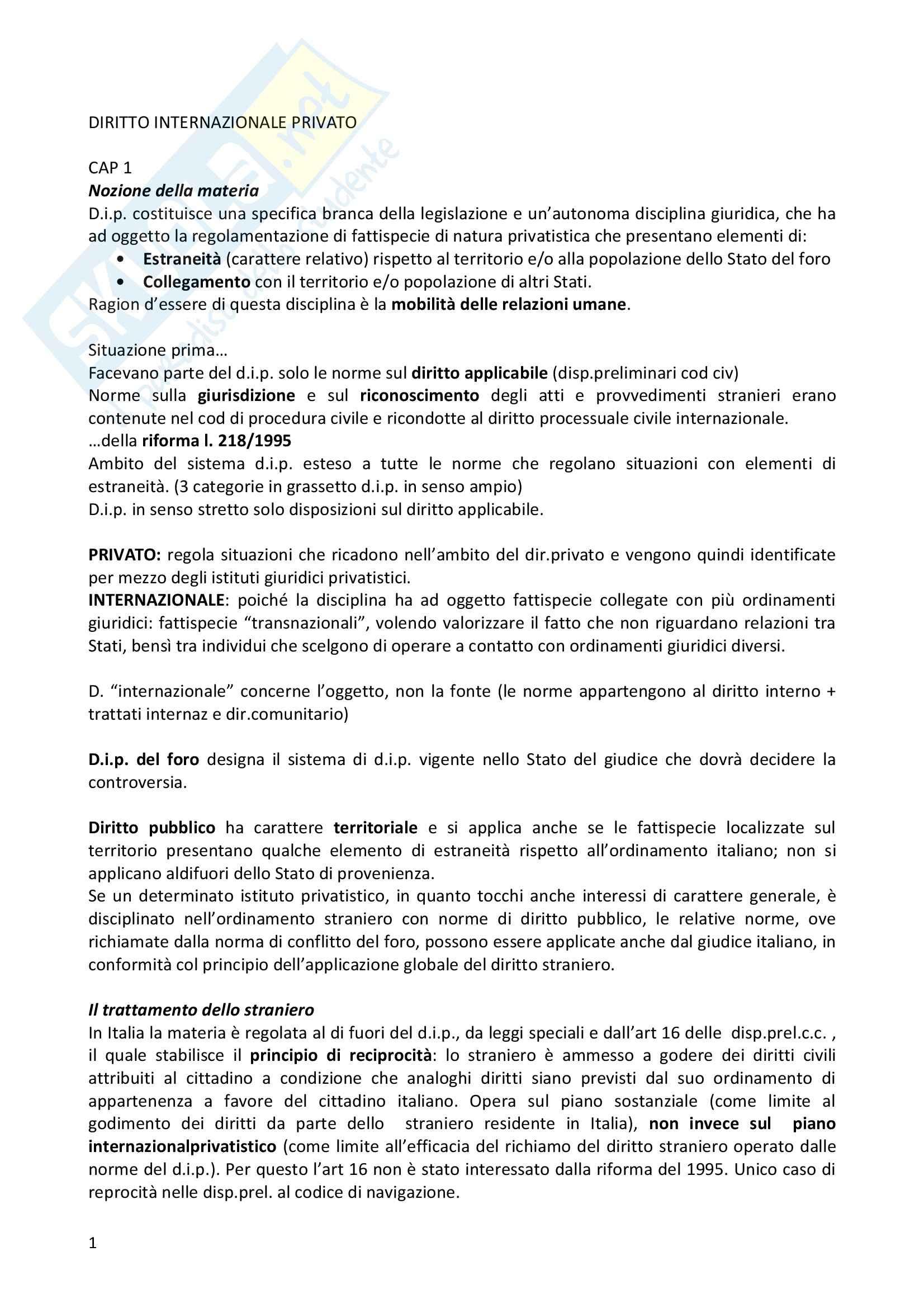 Diritto internazionale - Riassunto esame, prof. Amadeo