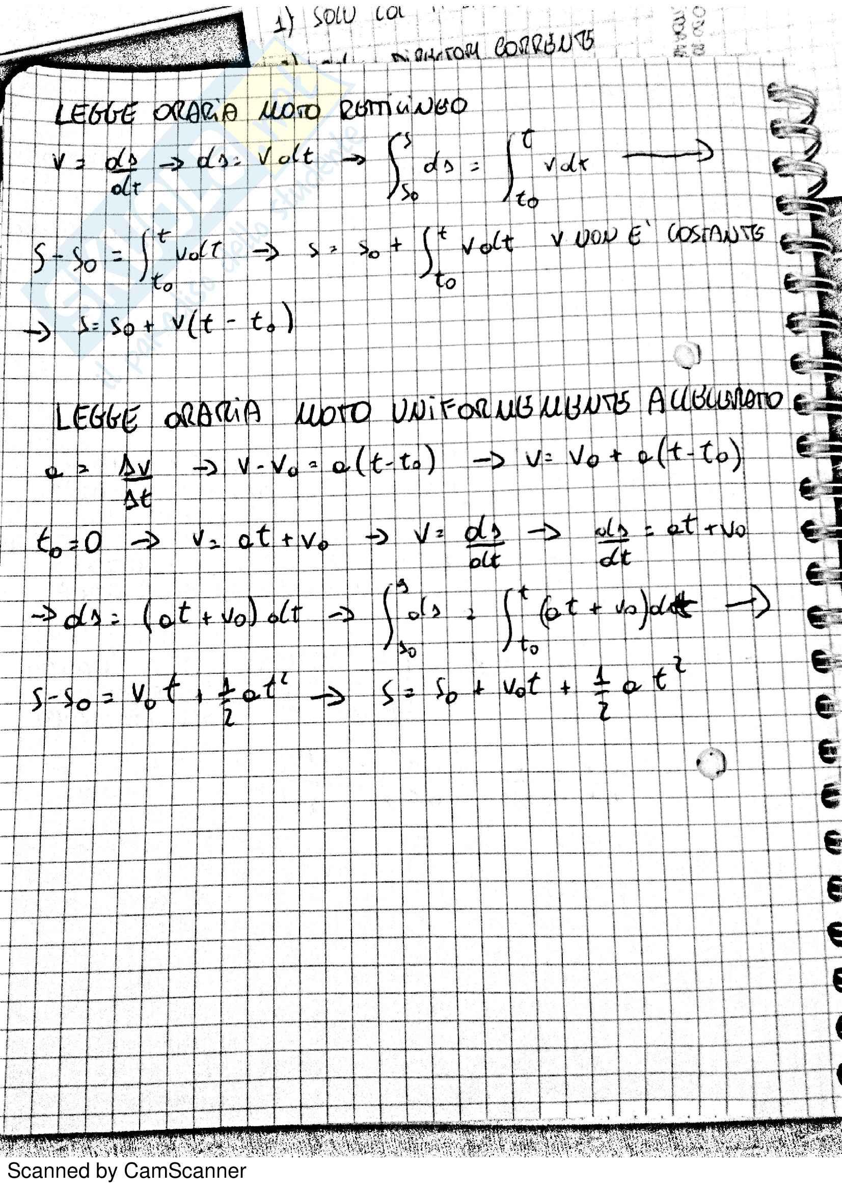 Appunti Di Fisica 1. Libro Consigliato : Mencuccini Pag. 2