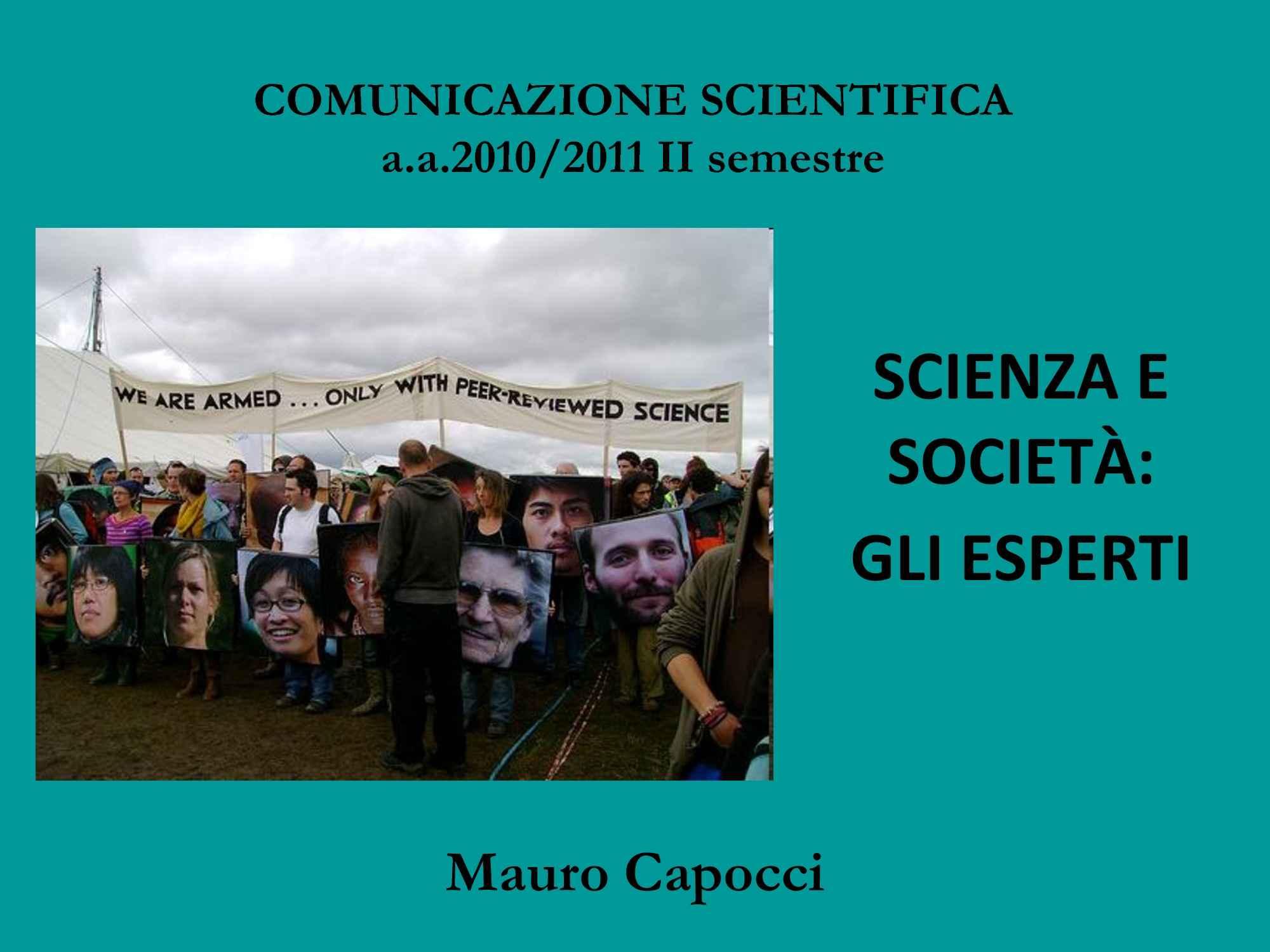 Scienza e società - Partecipazione pubblica nella medicina