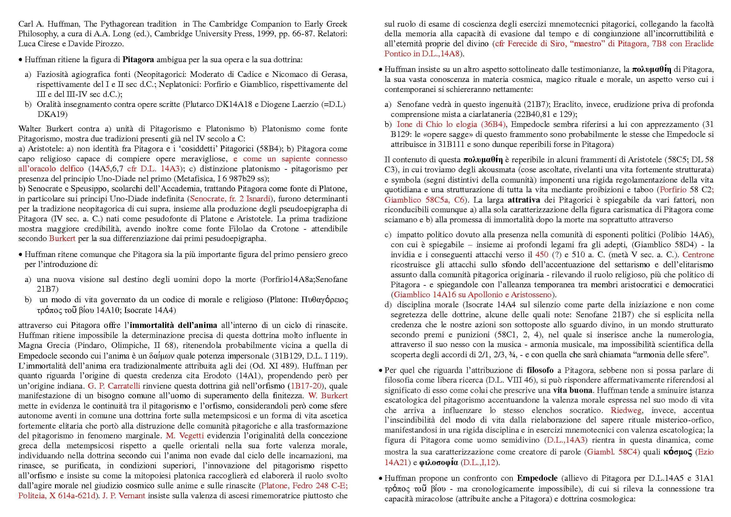 dispensa E. Spinelli Storia della filosofia antica