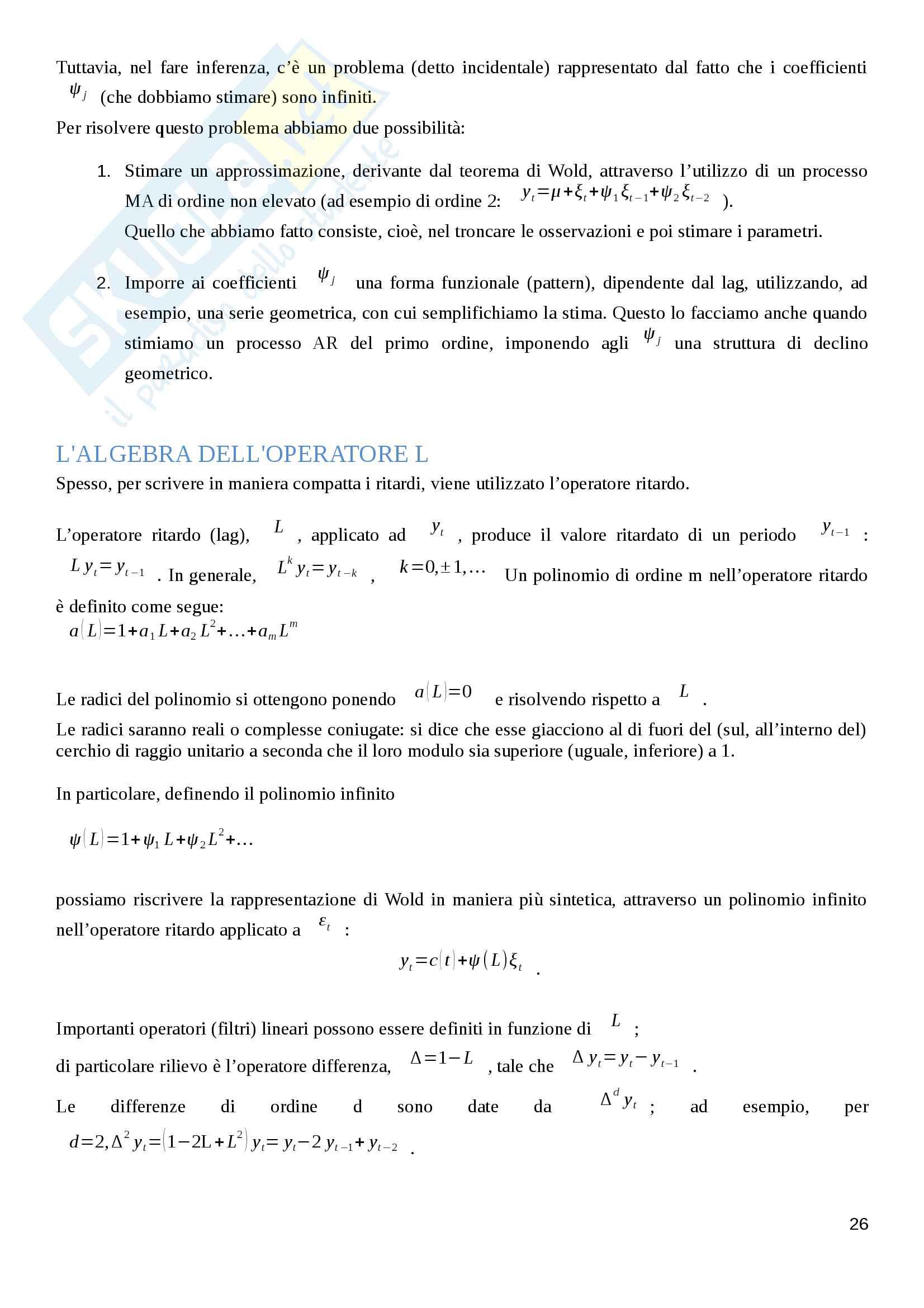 Appunti Finanza Quantitativa Pag. 26