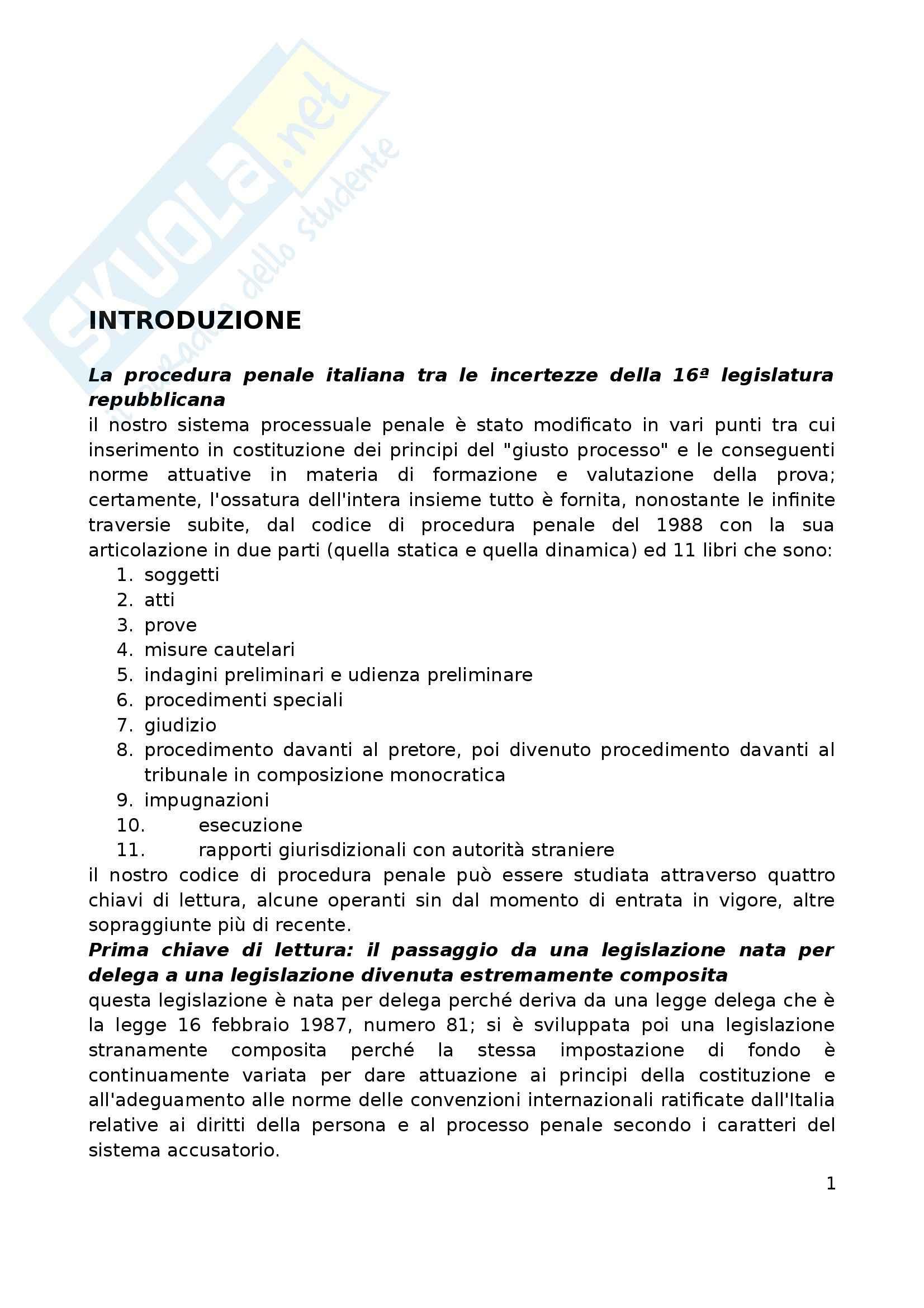 Riassunto esame Procedura Penale, prof. Marzaduri, libro consigliato Manuale di Procedura Penale, Conso Grevi, Bargis