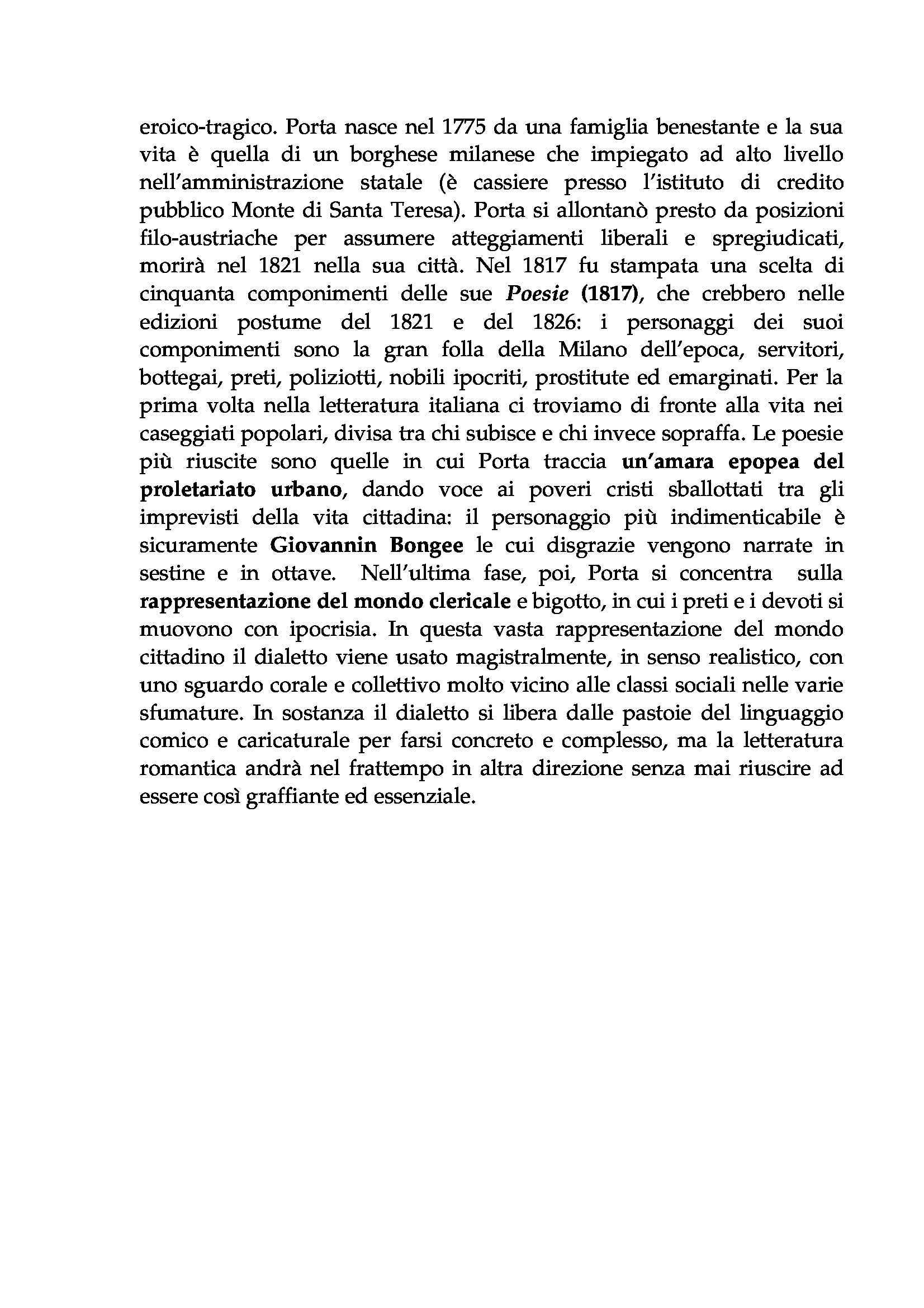 Letteratura italiana - Romanticismo italiano Pag. 6