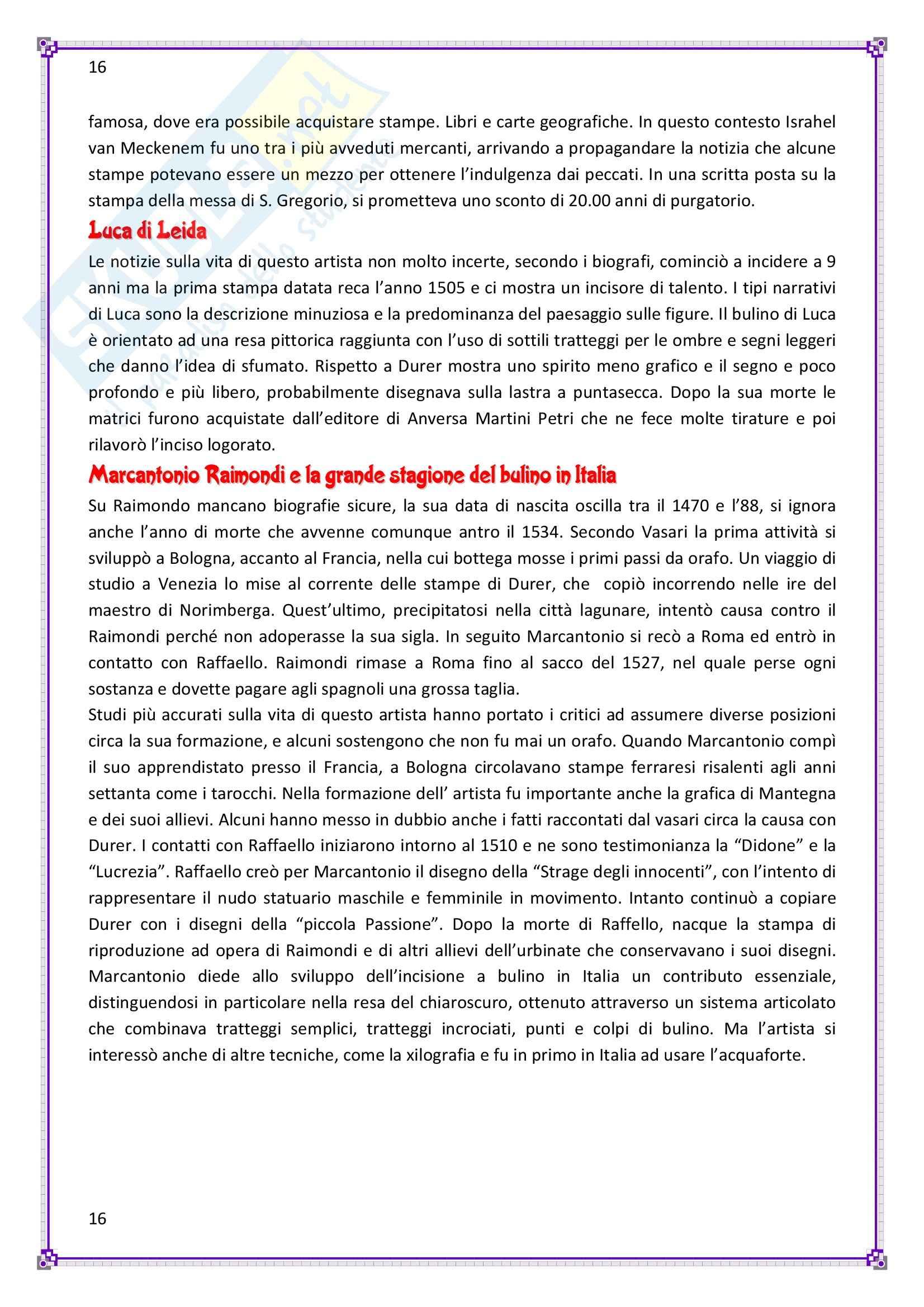 Storia dell'incisione, decorazione e illustrazione del libro - Appunti Pag. 16