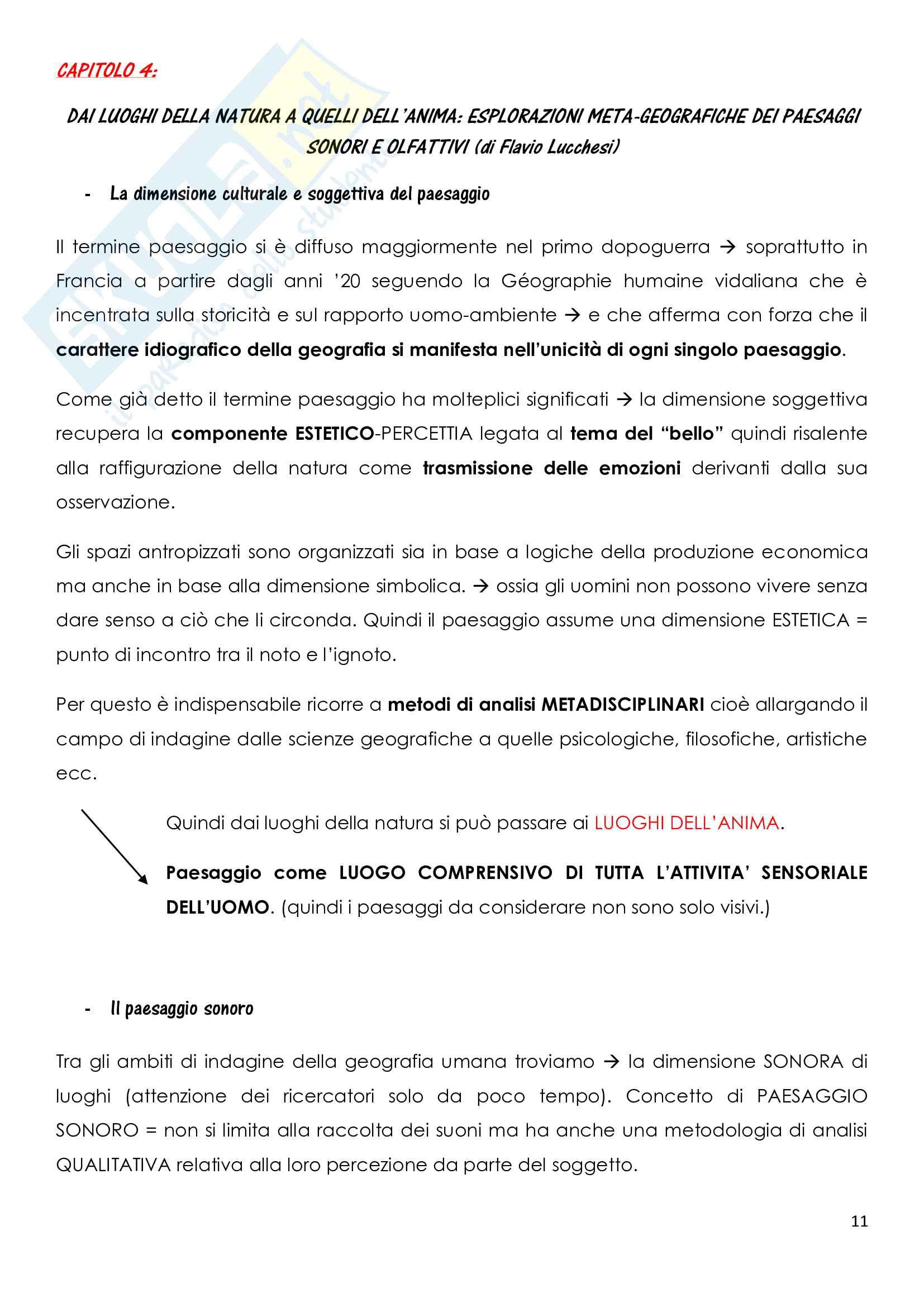 Riassunto esame Geografia, prof. Molinari, libro consigliato Il paesaggio nelle scienze umane, Dal Borgo, Gavinelli Pag. 11
