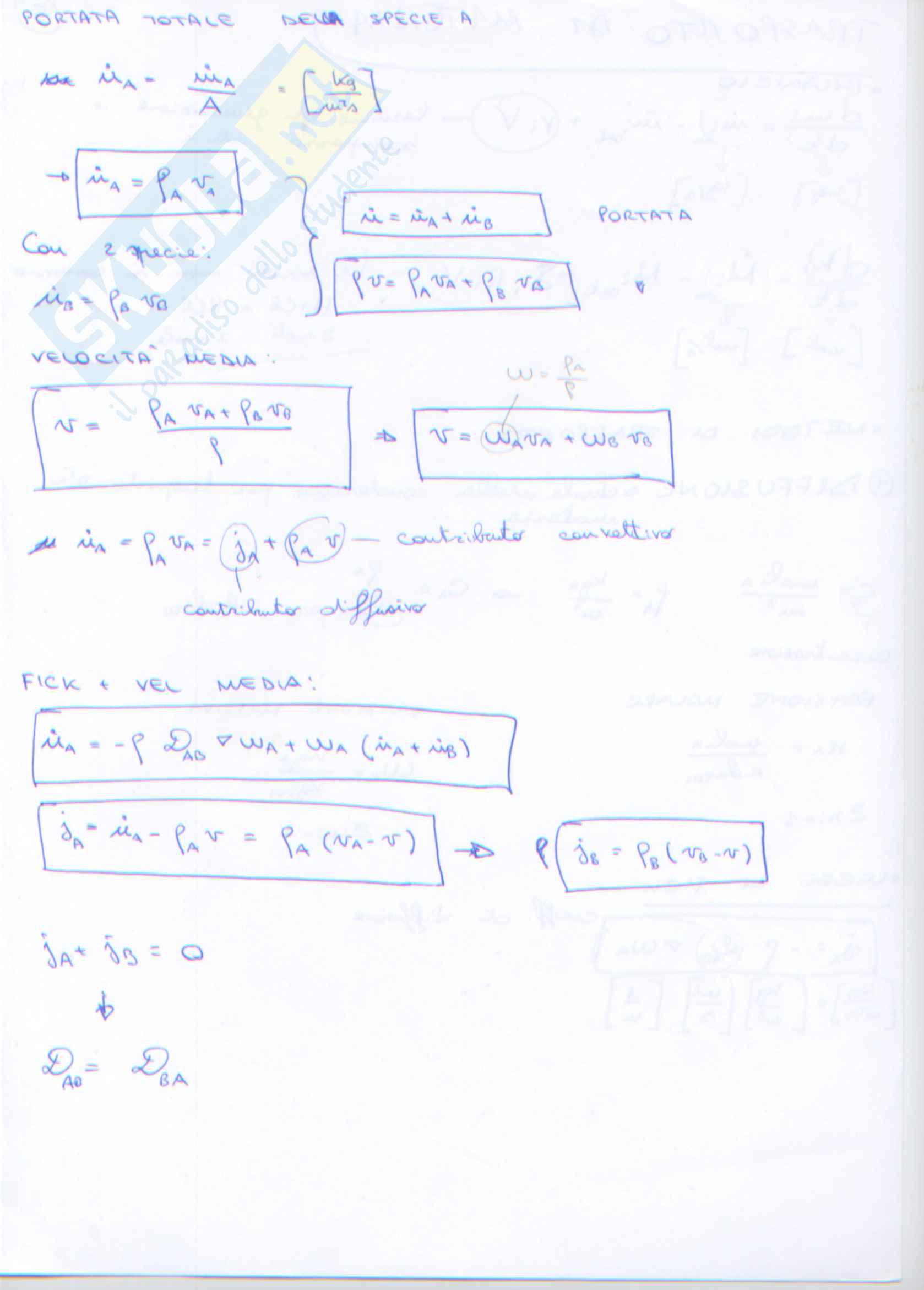 Trasporto di Materia Pag. 2