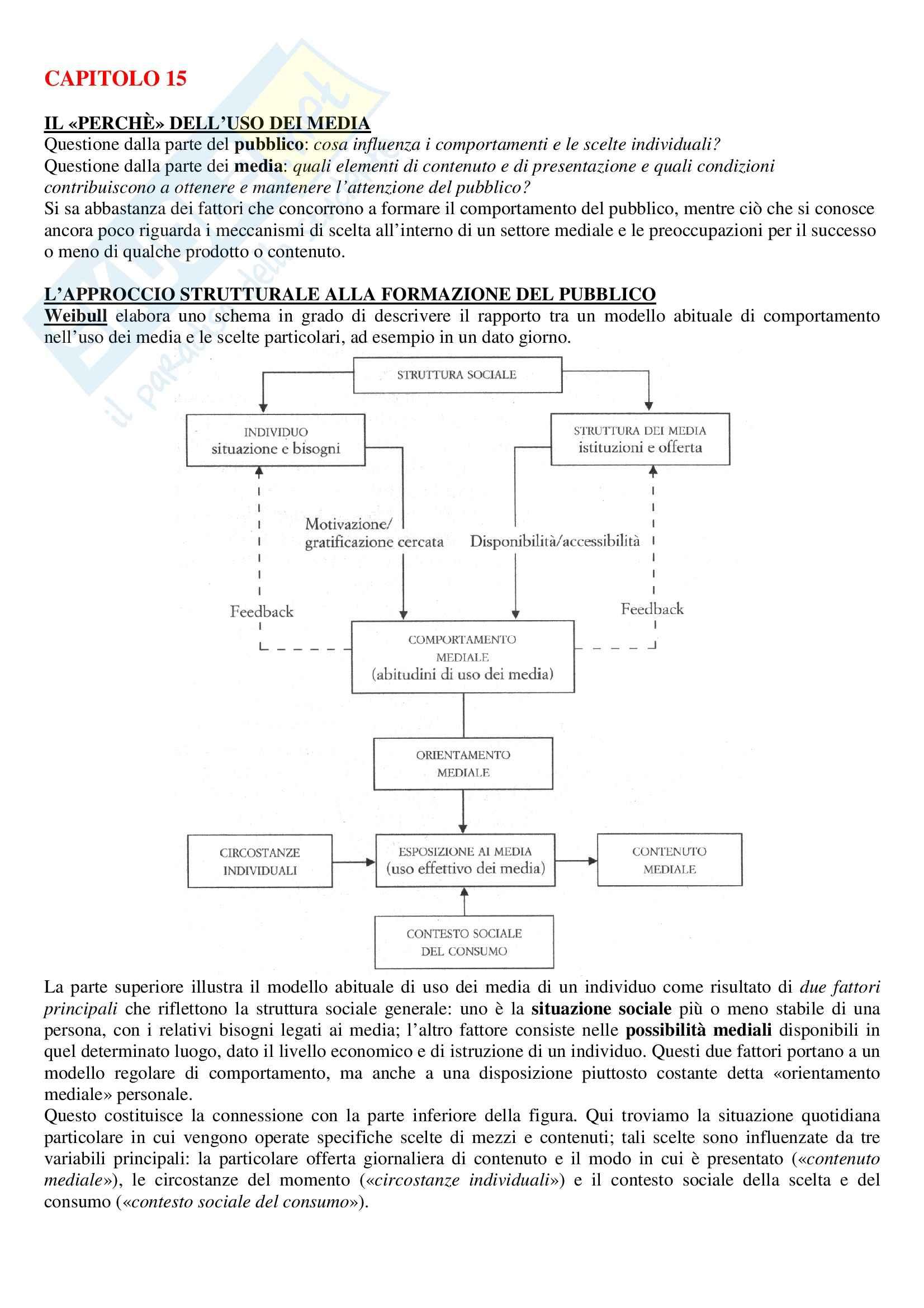 Riassunto esame Teorie e tecniche della comunicazione di massa, prof. Lombardi, libro consigliato Sociologia dei media, McQuail Pag. 51