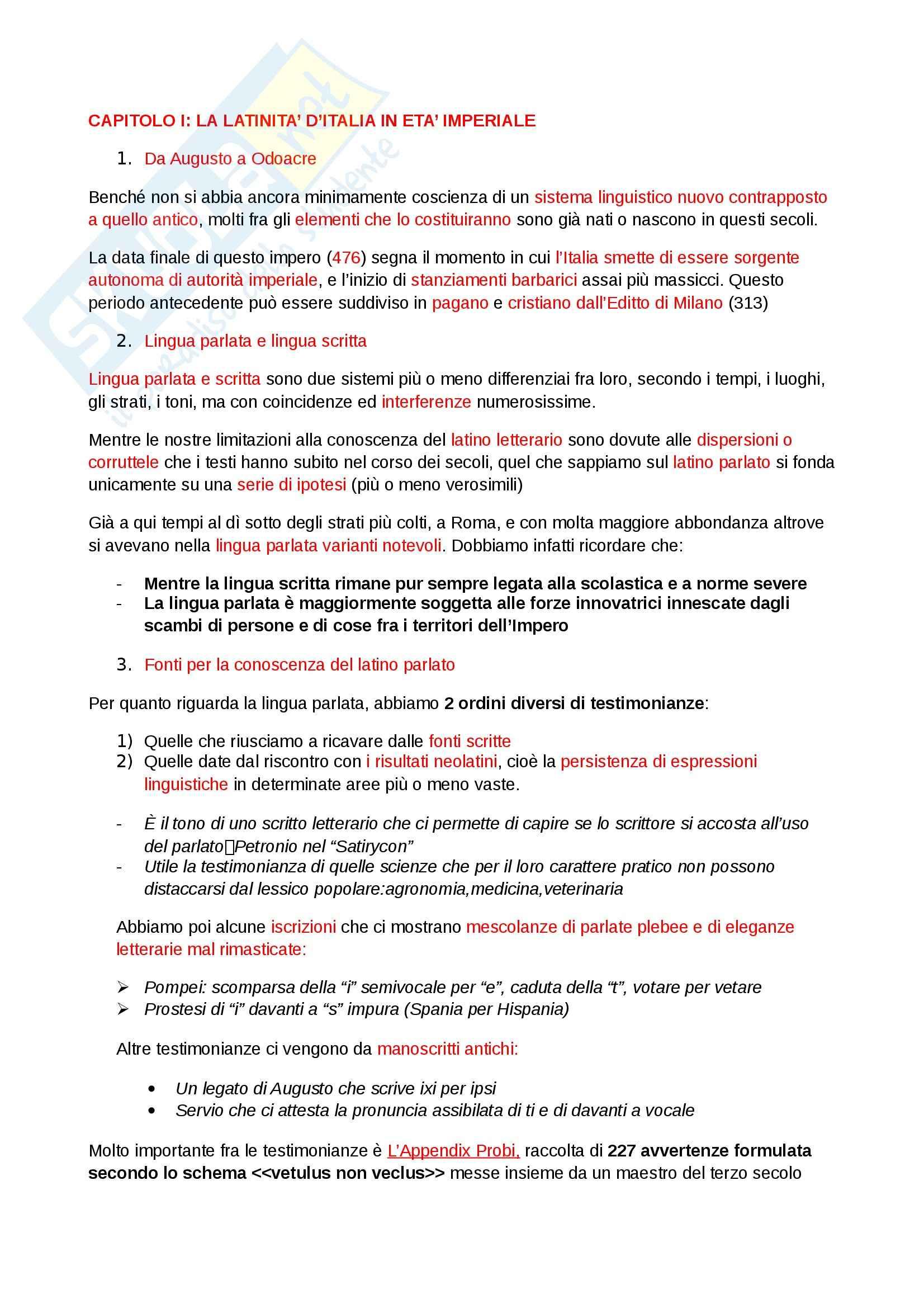 Riassunto esame Storia della Lingua Italiana, prof. Dardi, libro consigliato Storia della Lingua Italiana, Migliorini