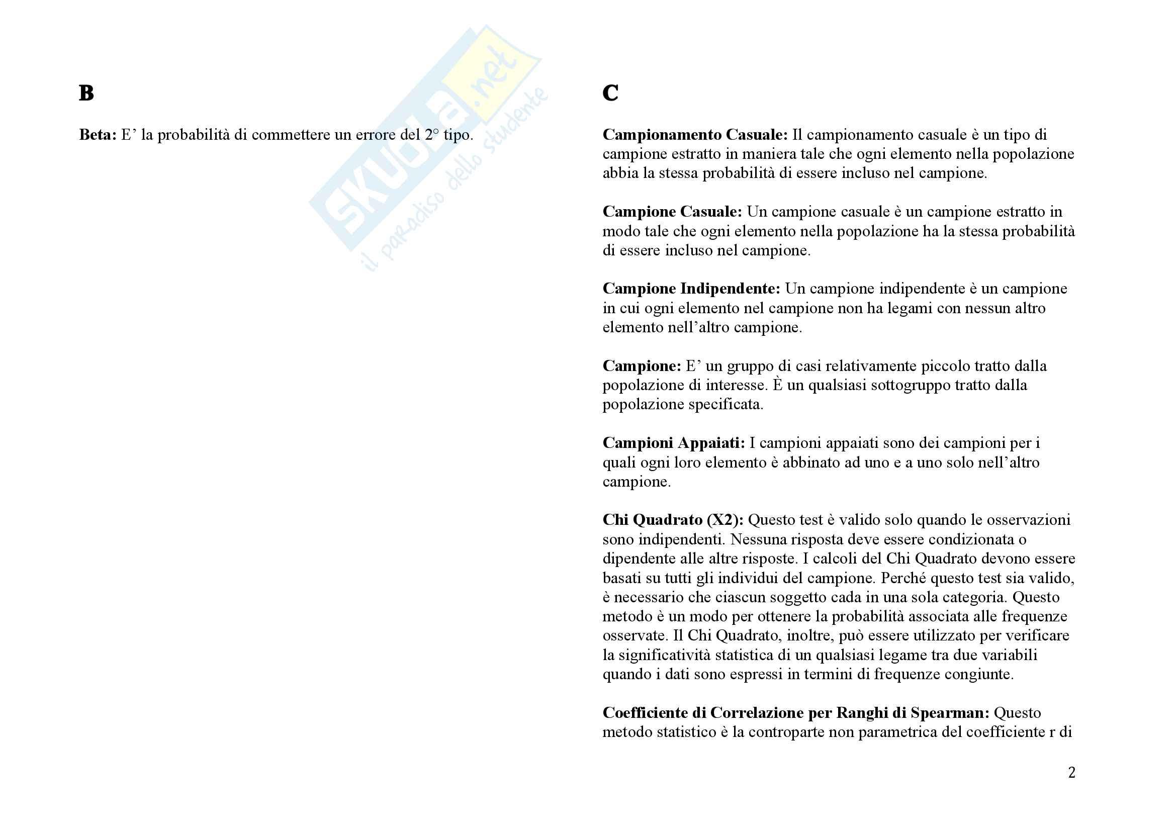 Dizionario di Psicometria Pag. 2