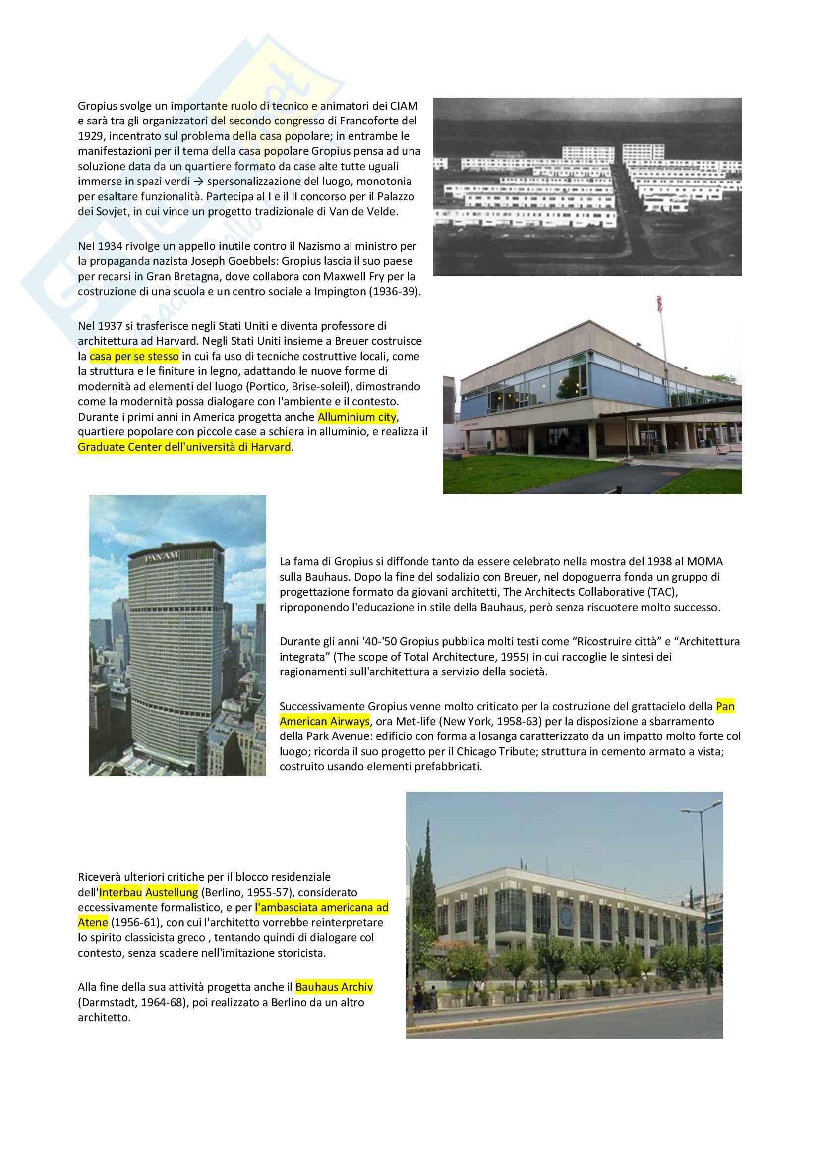 I maestri del Movimento Moderno: Le Corbusier, Van Der Rohe, Gropius Pag. 6