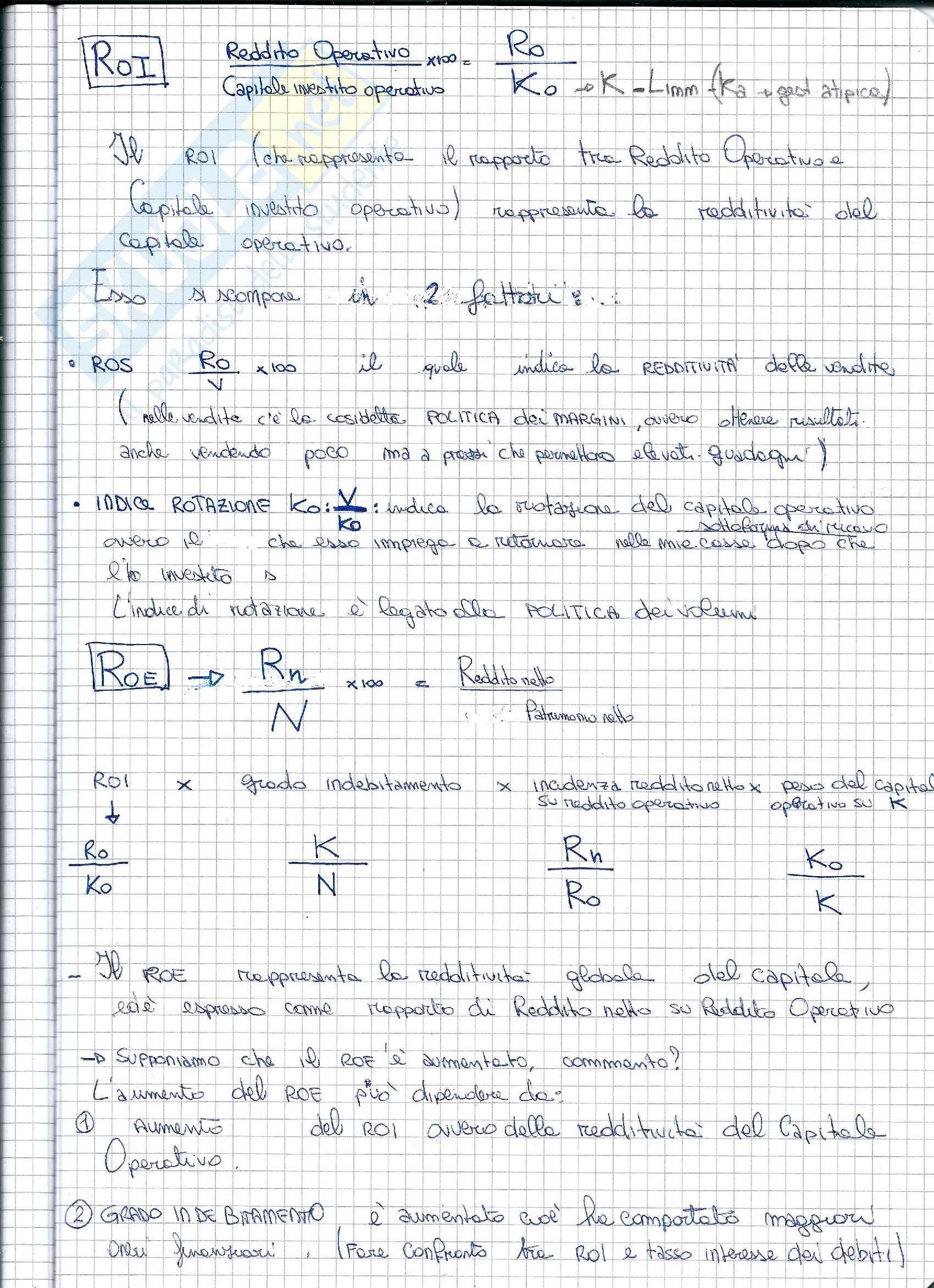 Ragioneria - Analisi per indici dello Stato Patrimoniale e Conto Economico Pag. 6