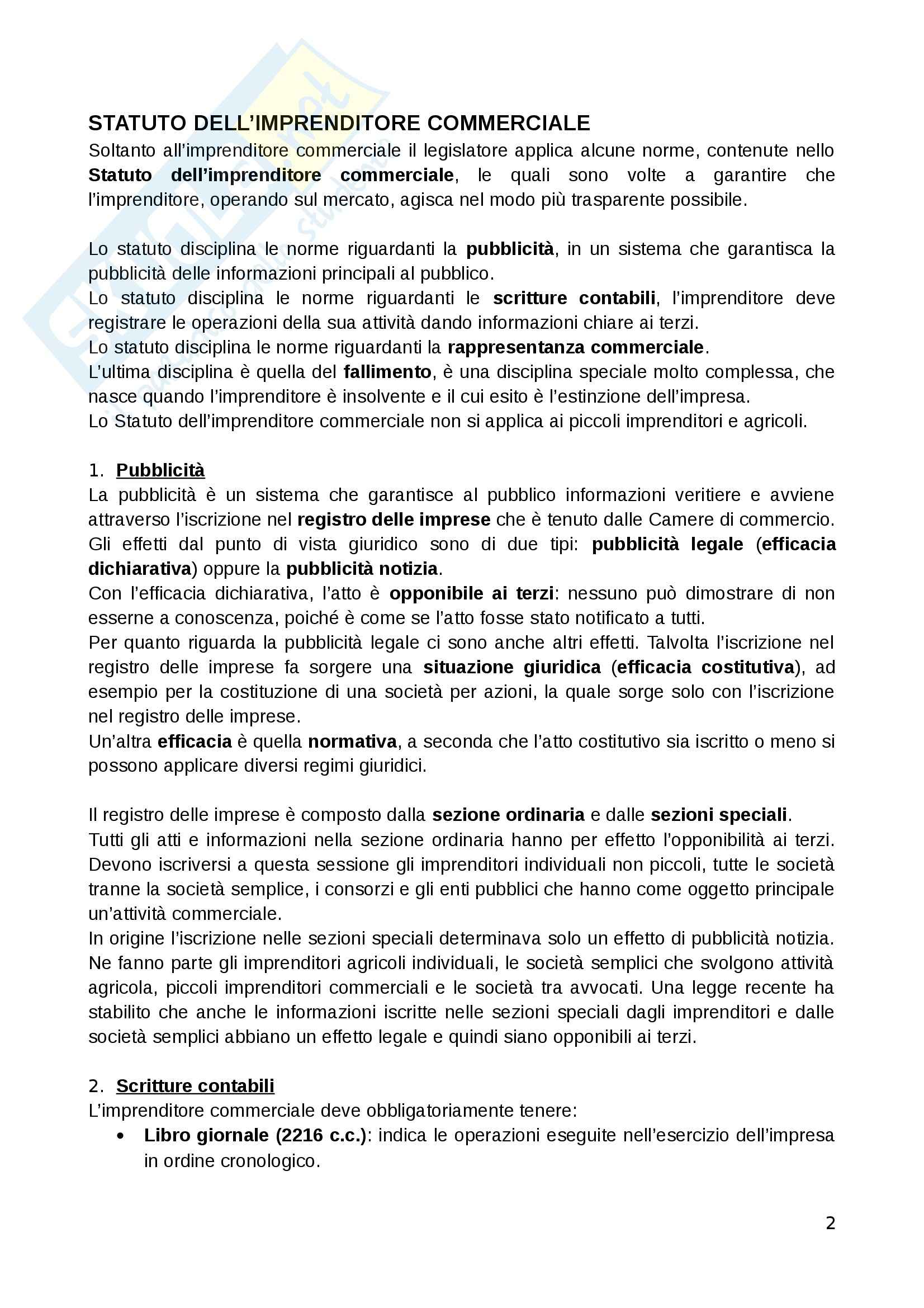 Diritto commerciale - Appunti Pag. 2